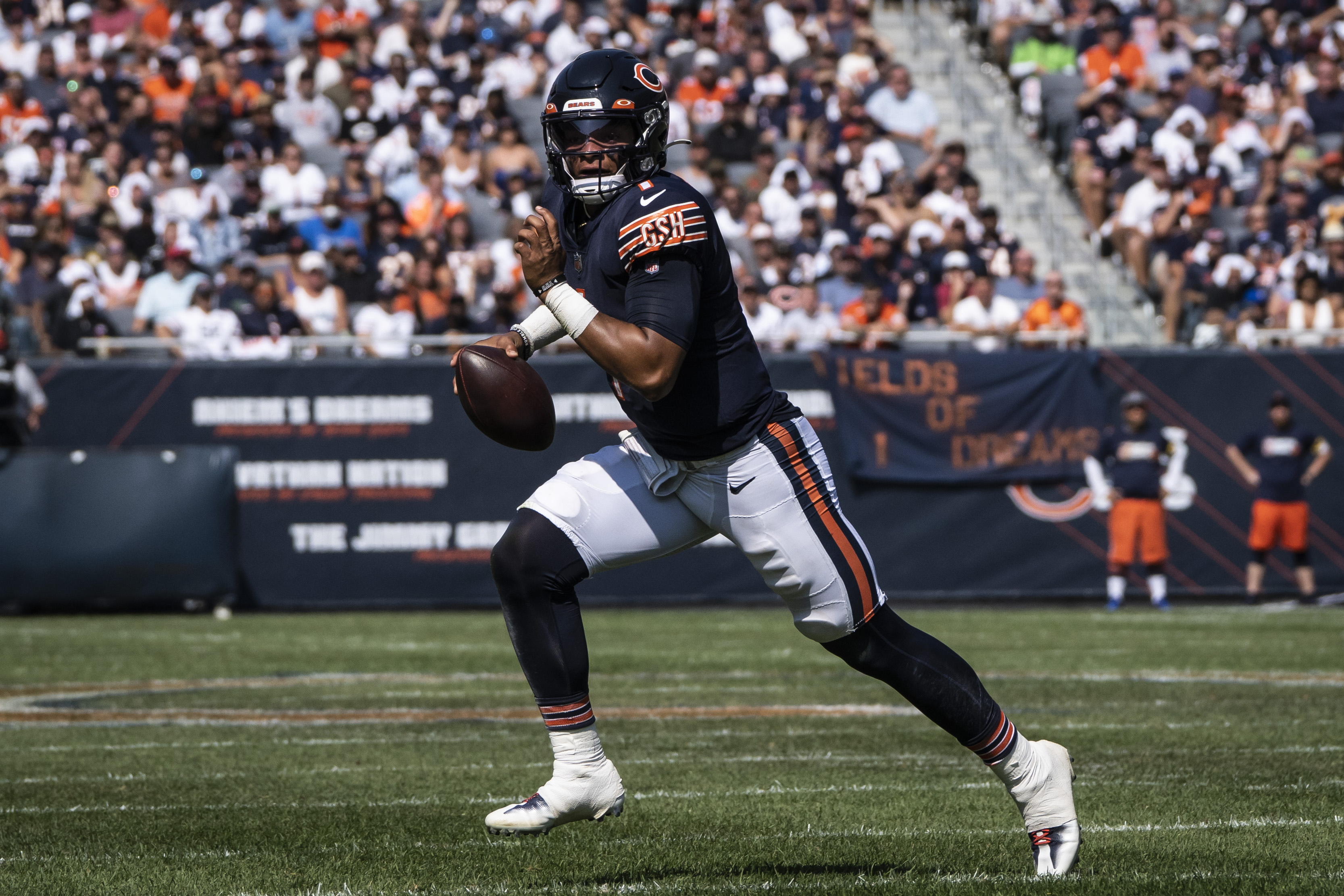 The future that fans have been dreaming about for five months finally unfolded when Fields replaced Andy Dalton on Sunday in a 20-17 win over the Bengals.
