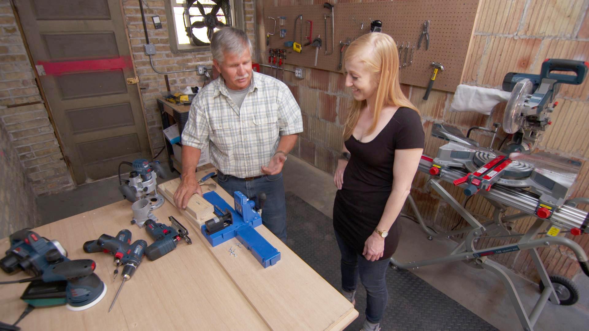 Tom Silva and homeowner build a garage workshop