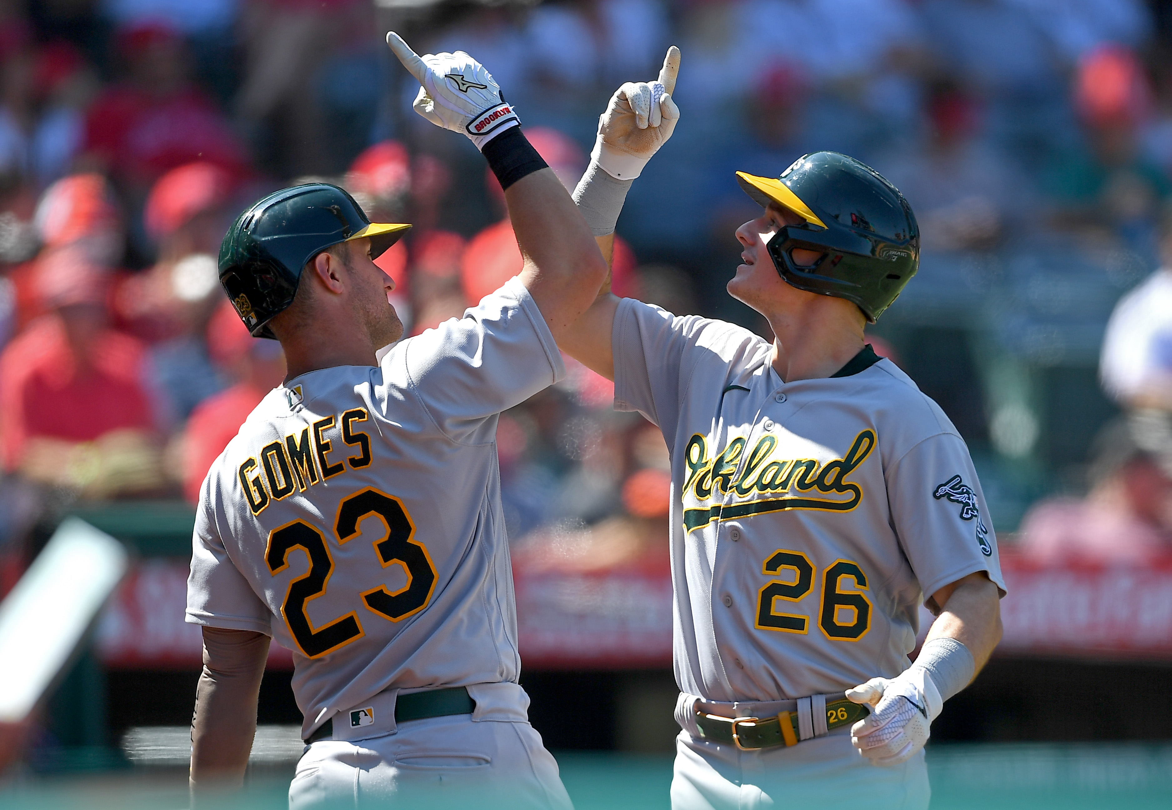 Oakland Athletics v Los Angeles Angels