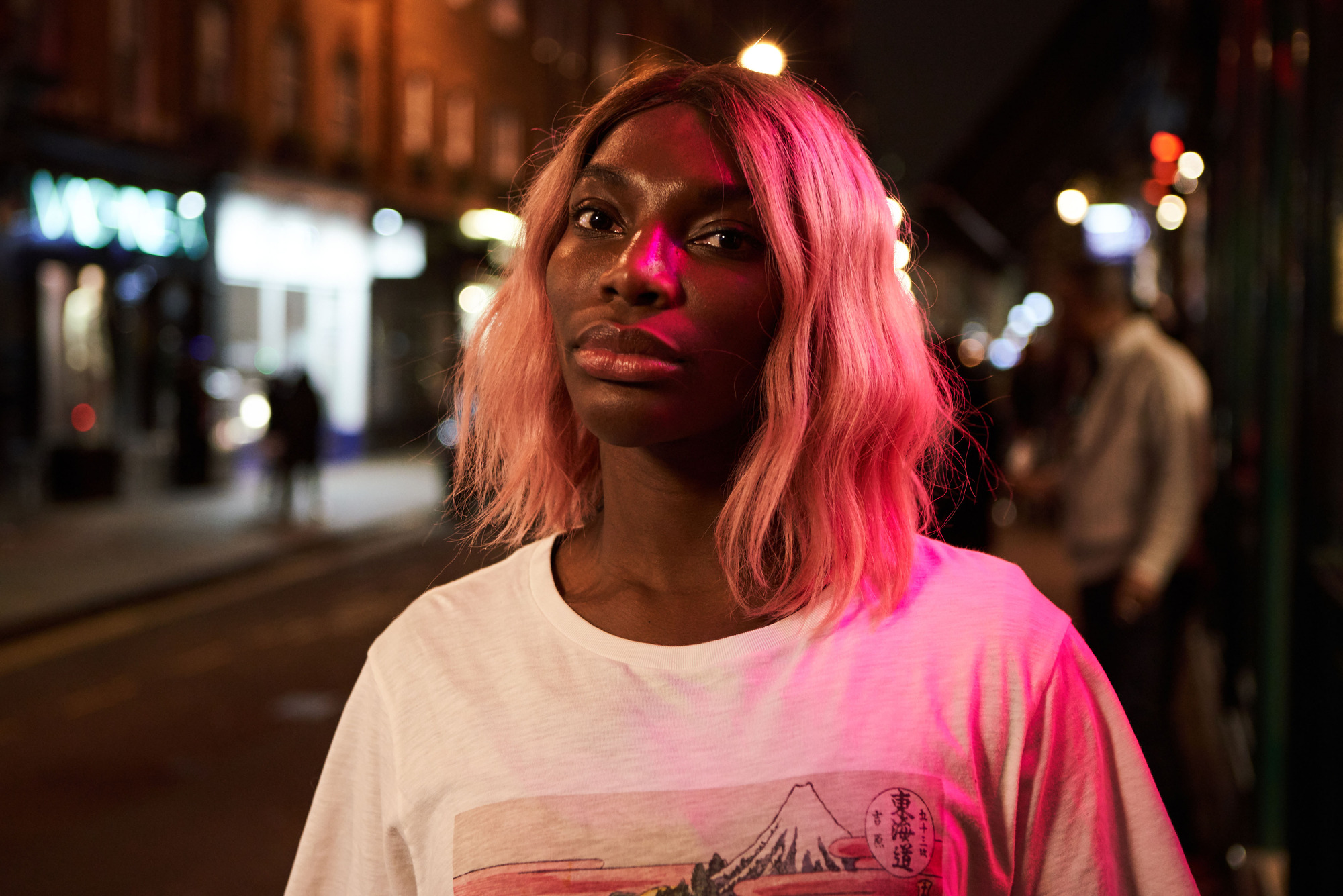 michaela coel in I May Destroy You, sporting pink hair