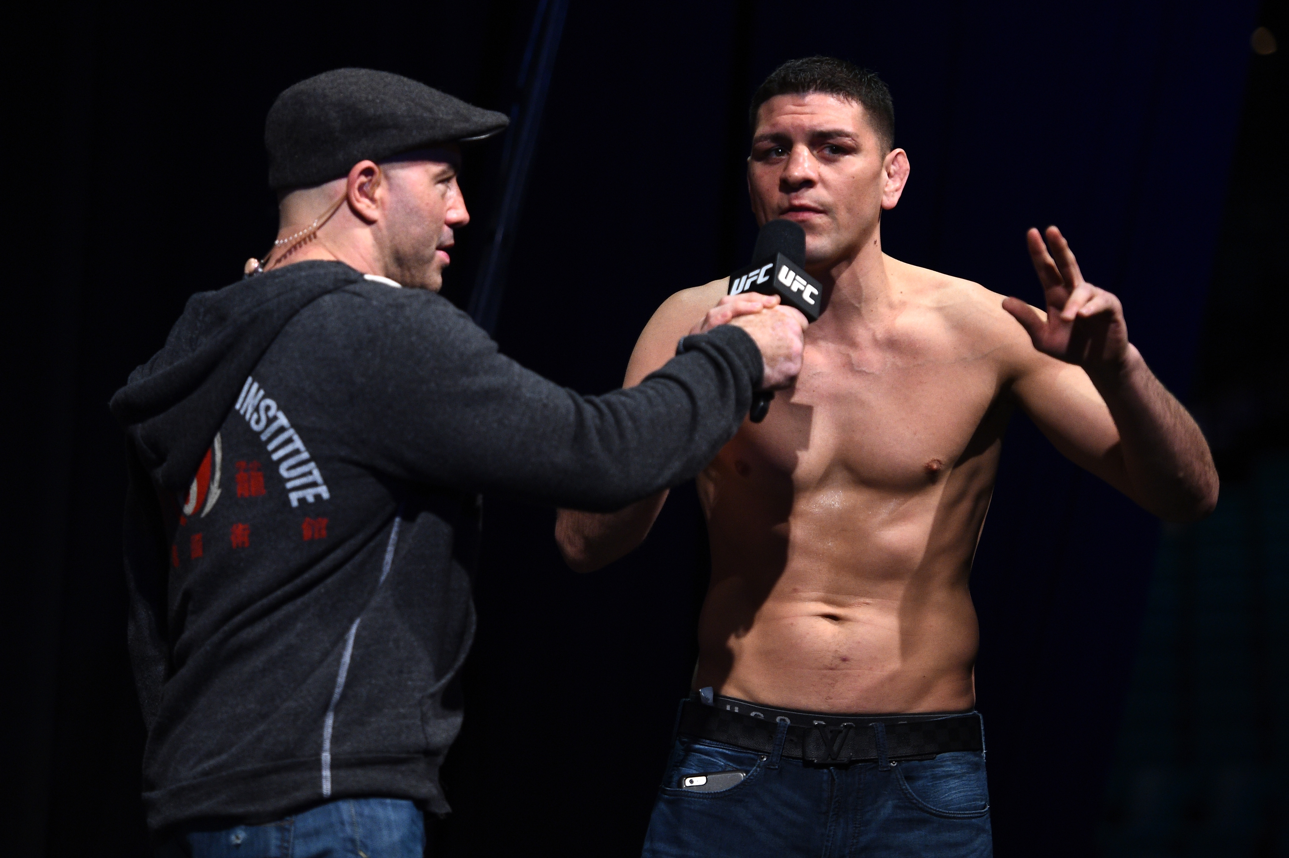 Nick Diaz at the UFC 183 weigh ins in 2015.