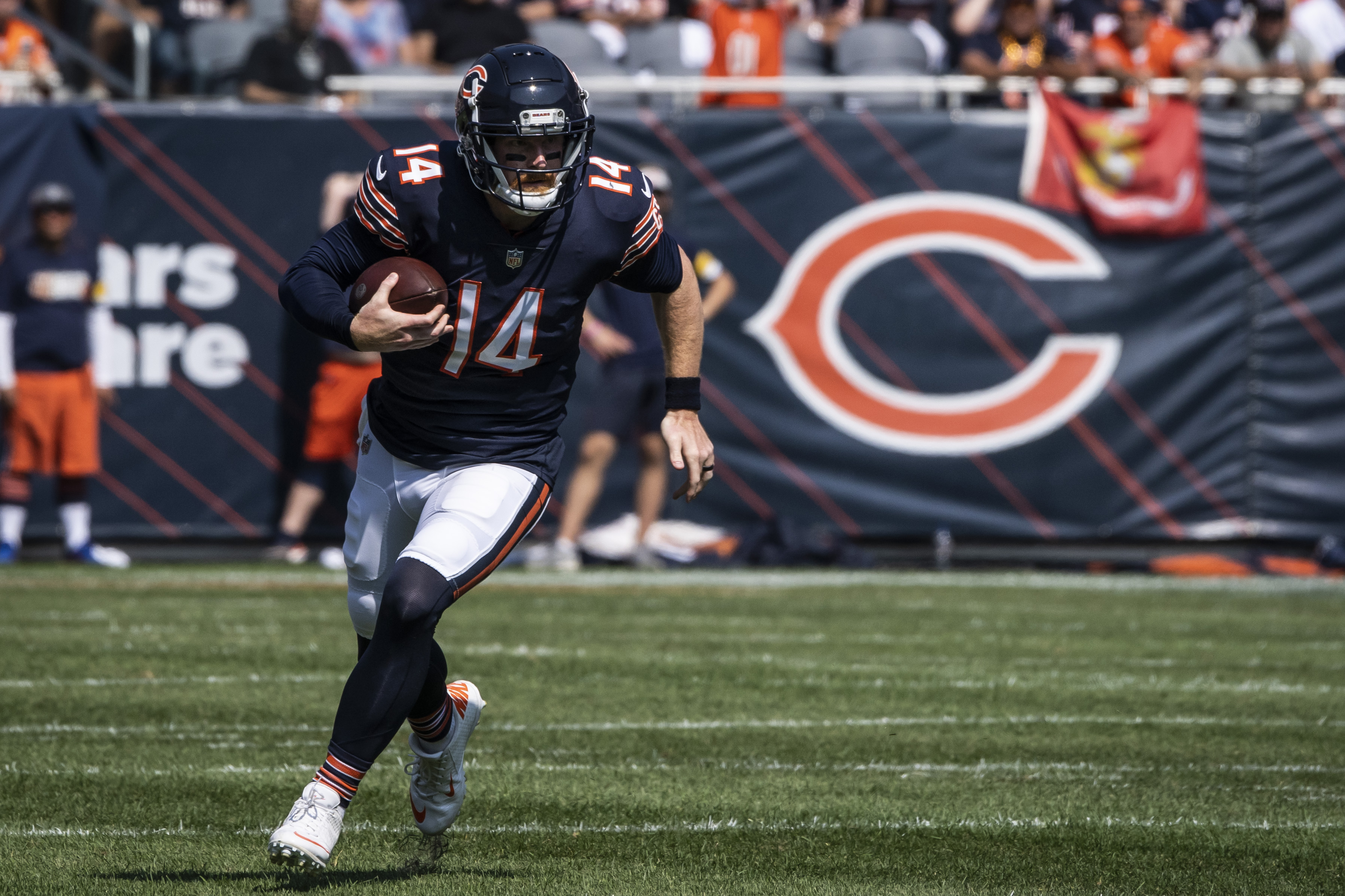 Bears quarterback Andy Dalton did not suffer an ACL tear against the Bengals on Sunday.