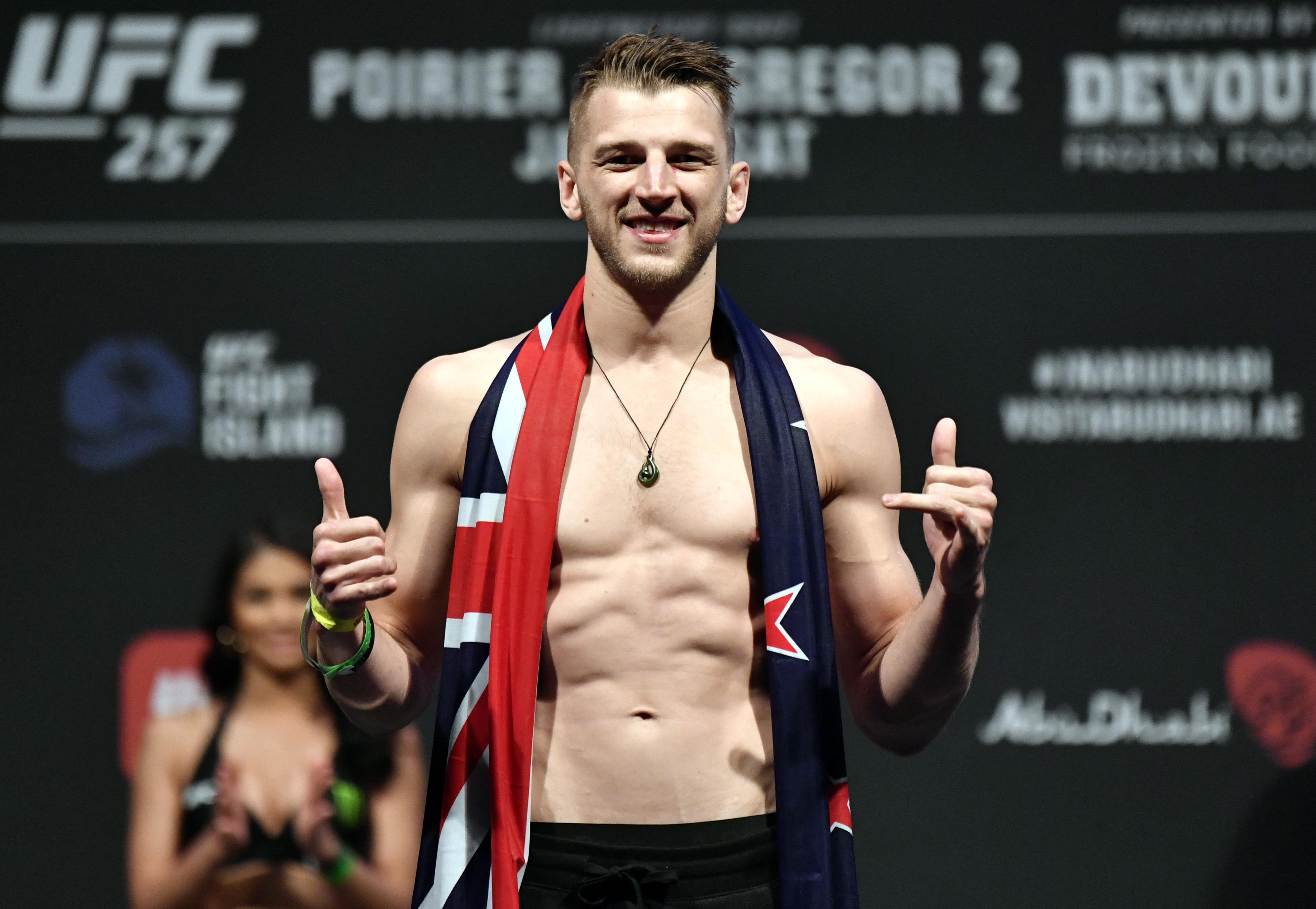 Dan Hooker during weigh-ins for UFC 257.
