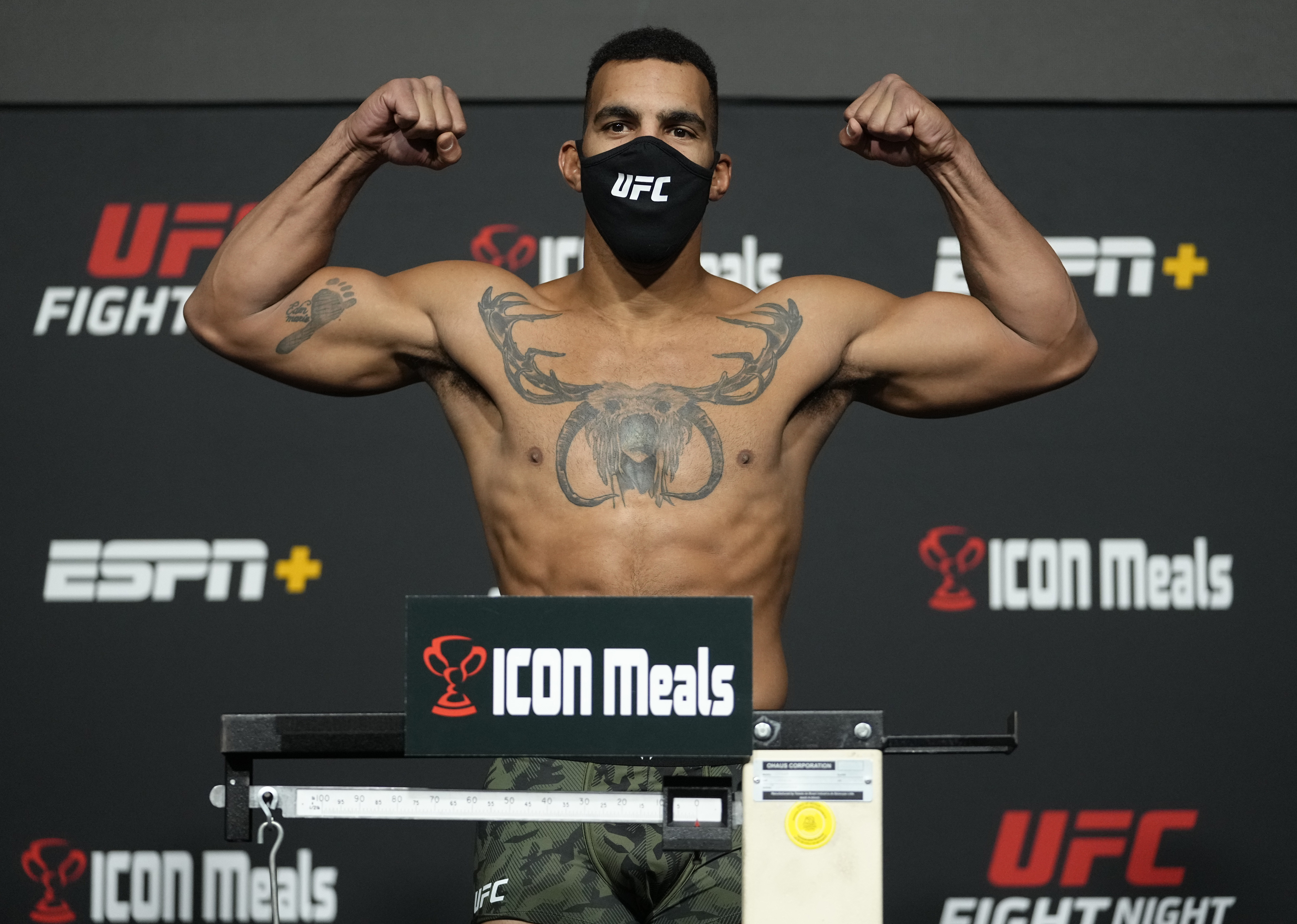 Devin Clark during weigh-ins for UFC Vegas 37.