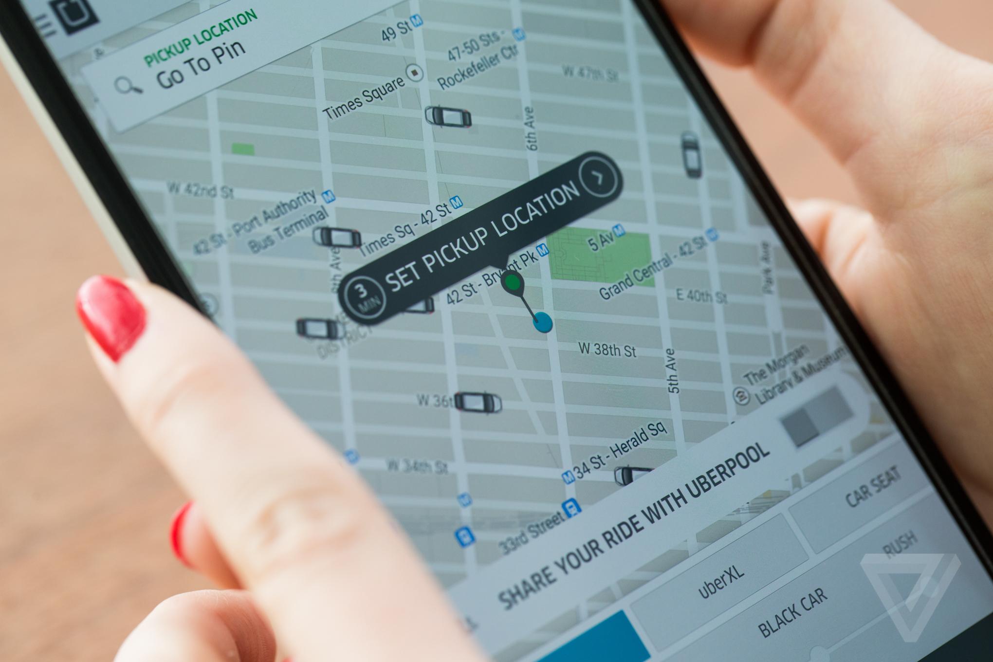 Uber stock image