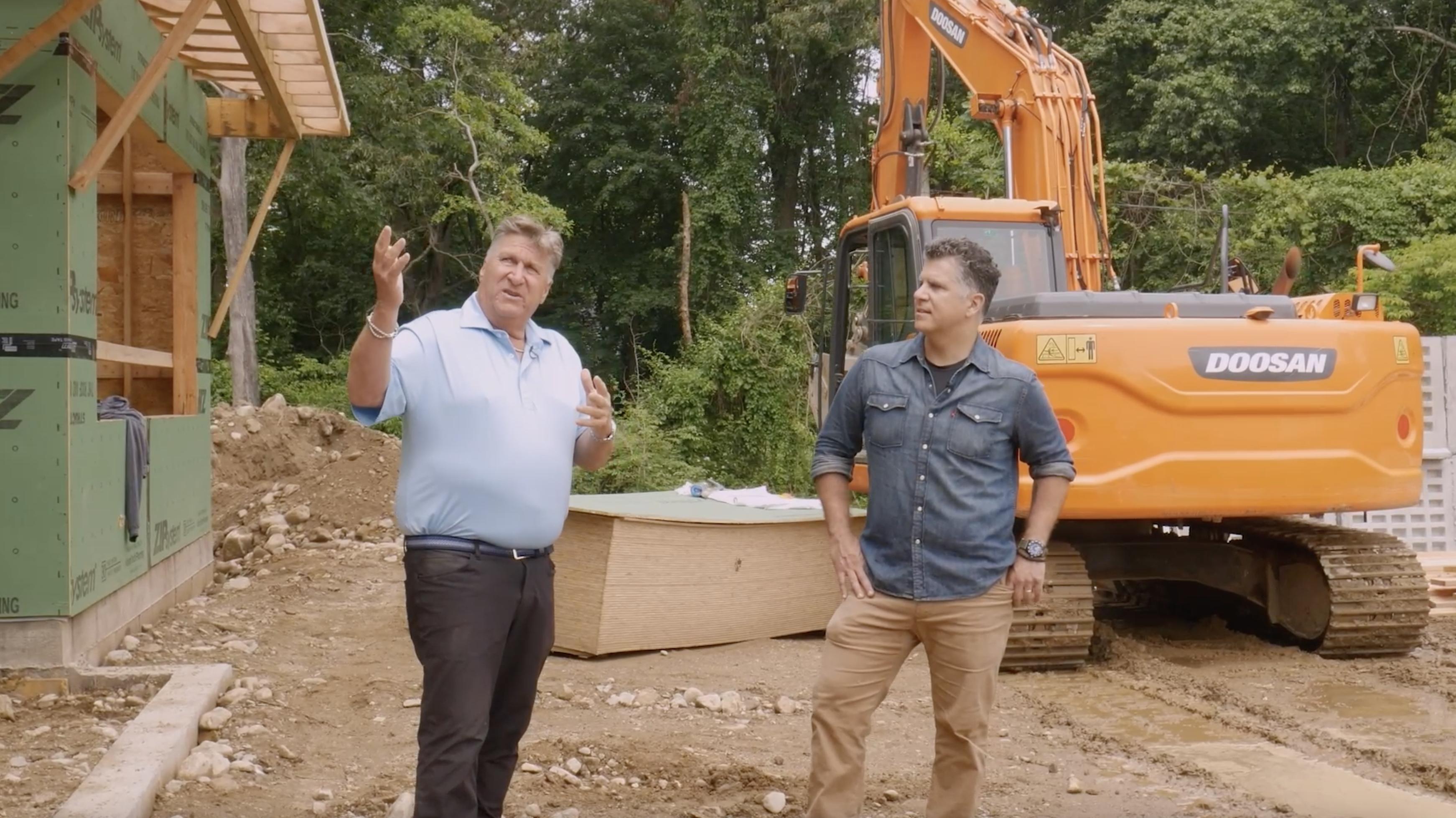 Host Chris Ermides and builder Jerry Effren discuss the 2021 Idea House.