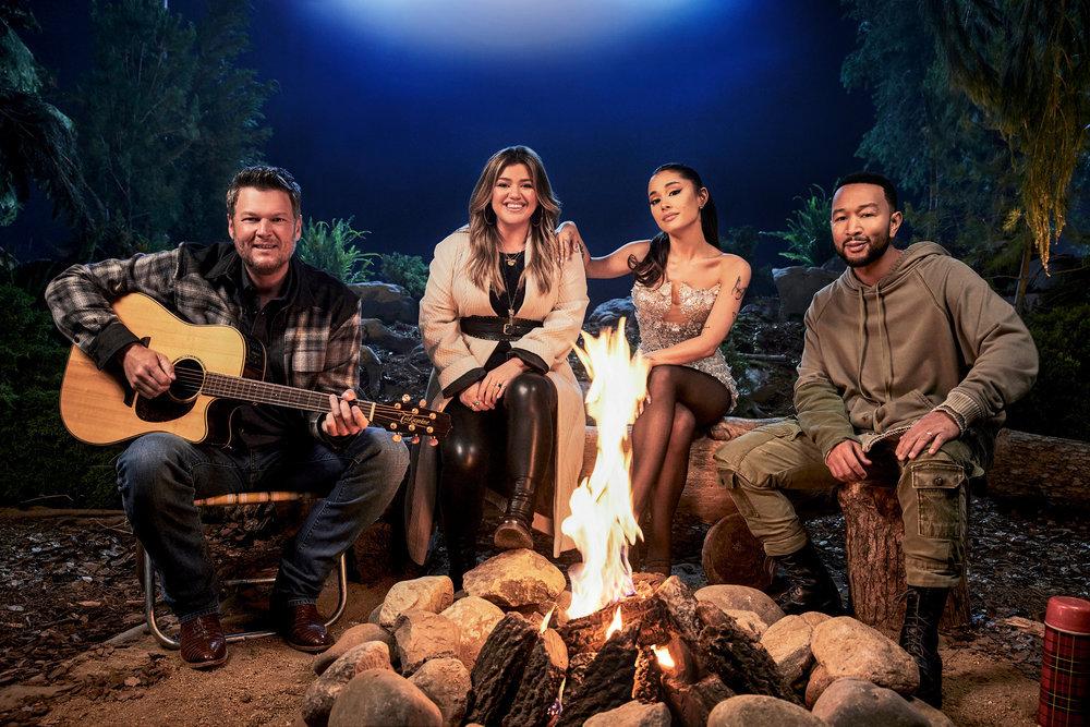 "Blake Shelton, Kelly Clarkson, Ariana Grande and John Legend are the coaches for Season 21 of ""The Voice."""