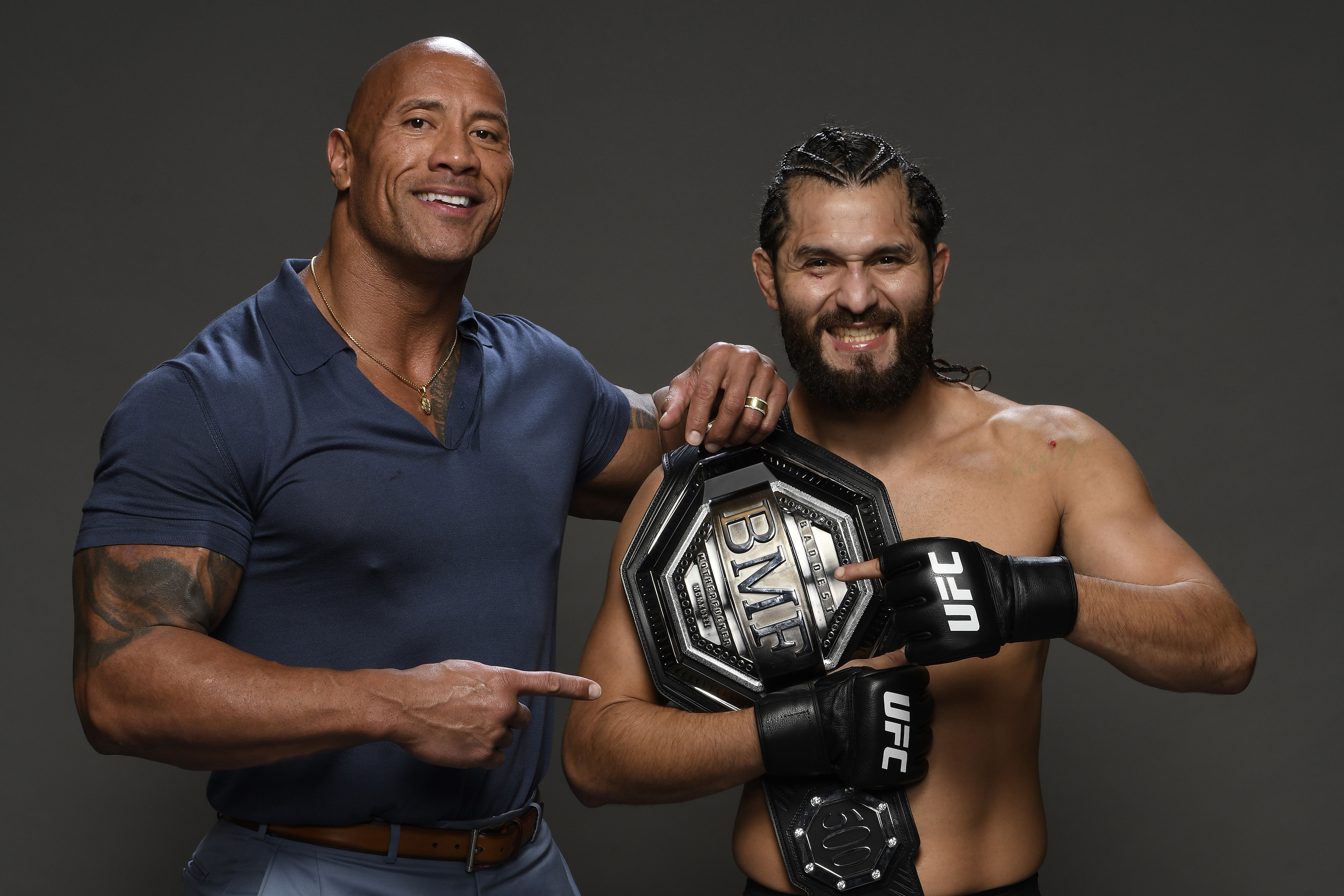 UFC 244: Jorge Masvidal and Dwayne Johnson The Rock UFC WWE MMA news