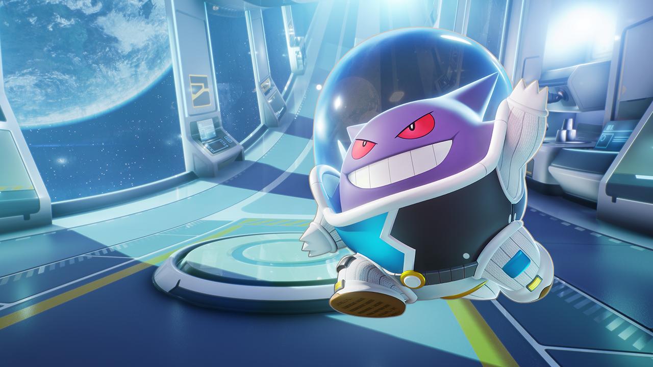 Space Gengar in PokémonUnite's second battle pass