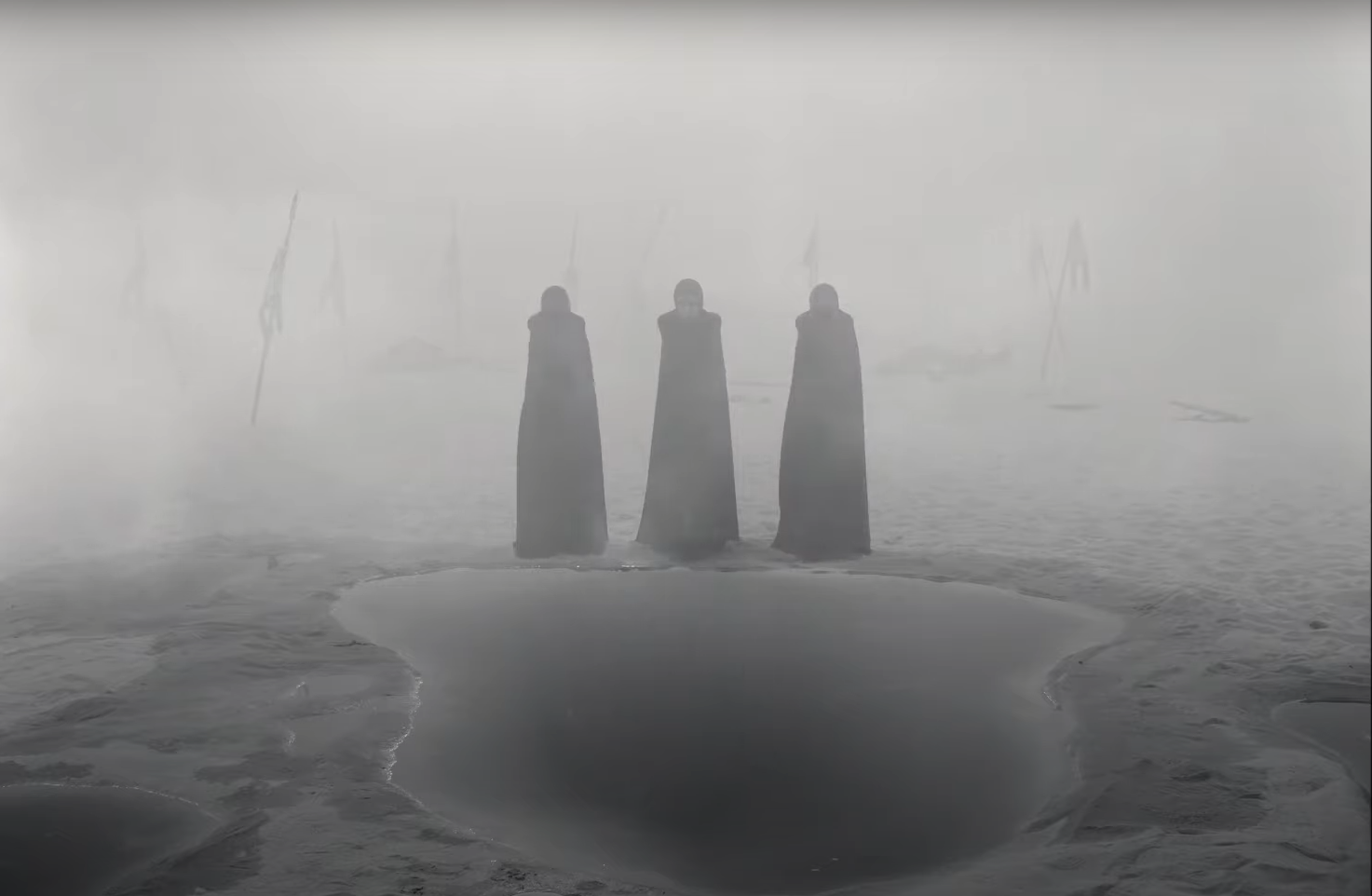 The three witches from Joel Coen's The Tragedy of Macbeth