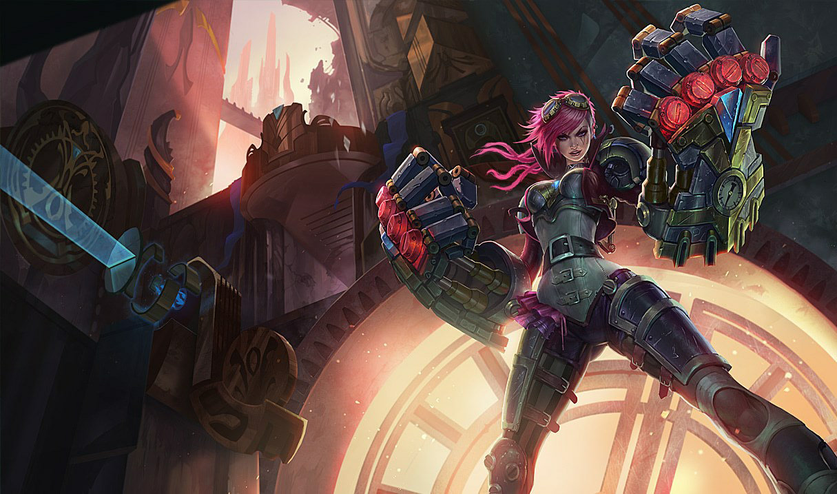 Artwork of Vi from League of Legends