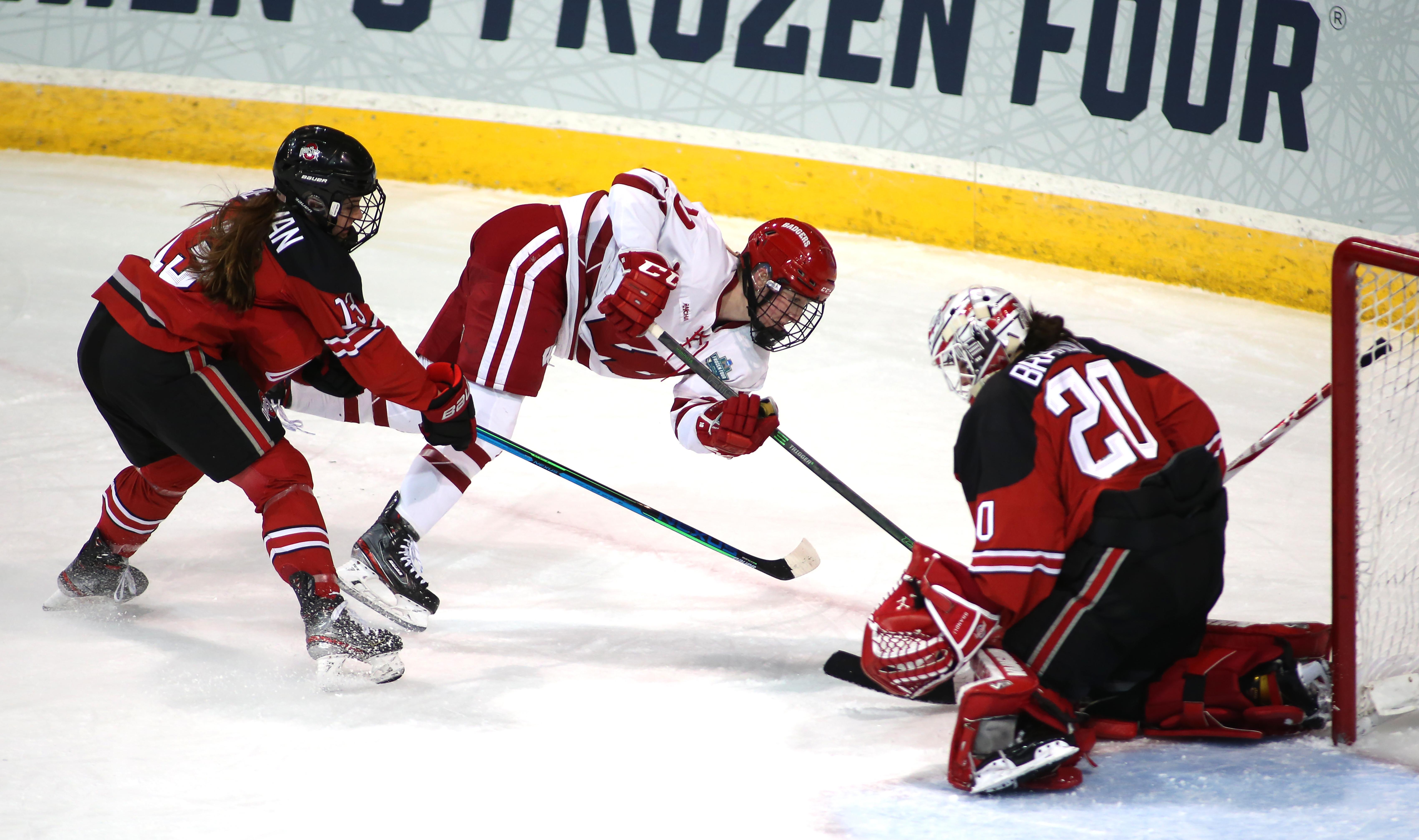 NCAA HOCKEY: MAR 18 Div I Women's Frozen Four - Ohio St. v Wisconsin