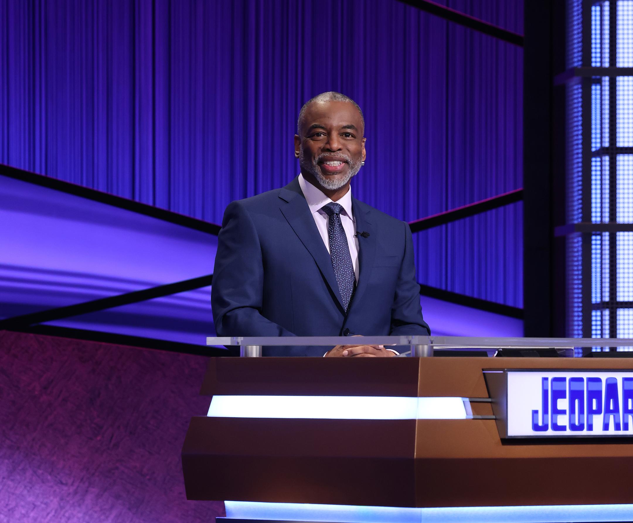 "LeVar Burton on the set of ""Jeopardy!"""