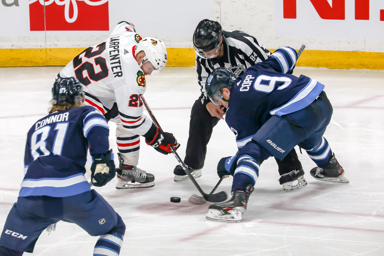 Chicago Blackhawks v Winnipeg Jets