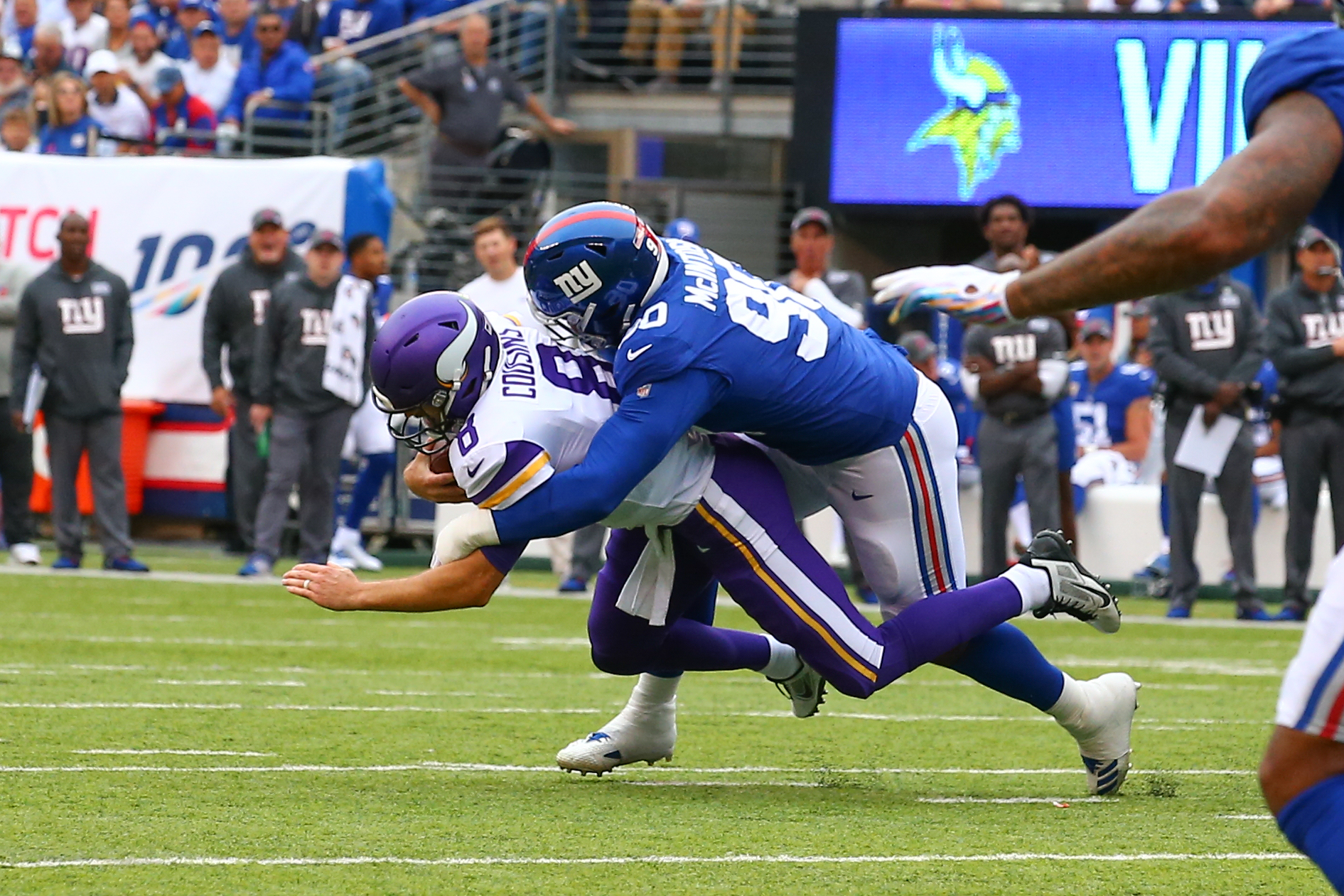 NFL: OCT 06 Vikings at Giants