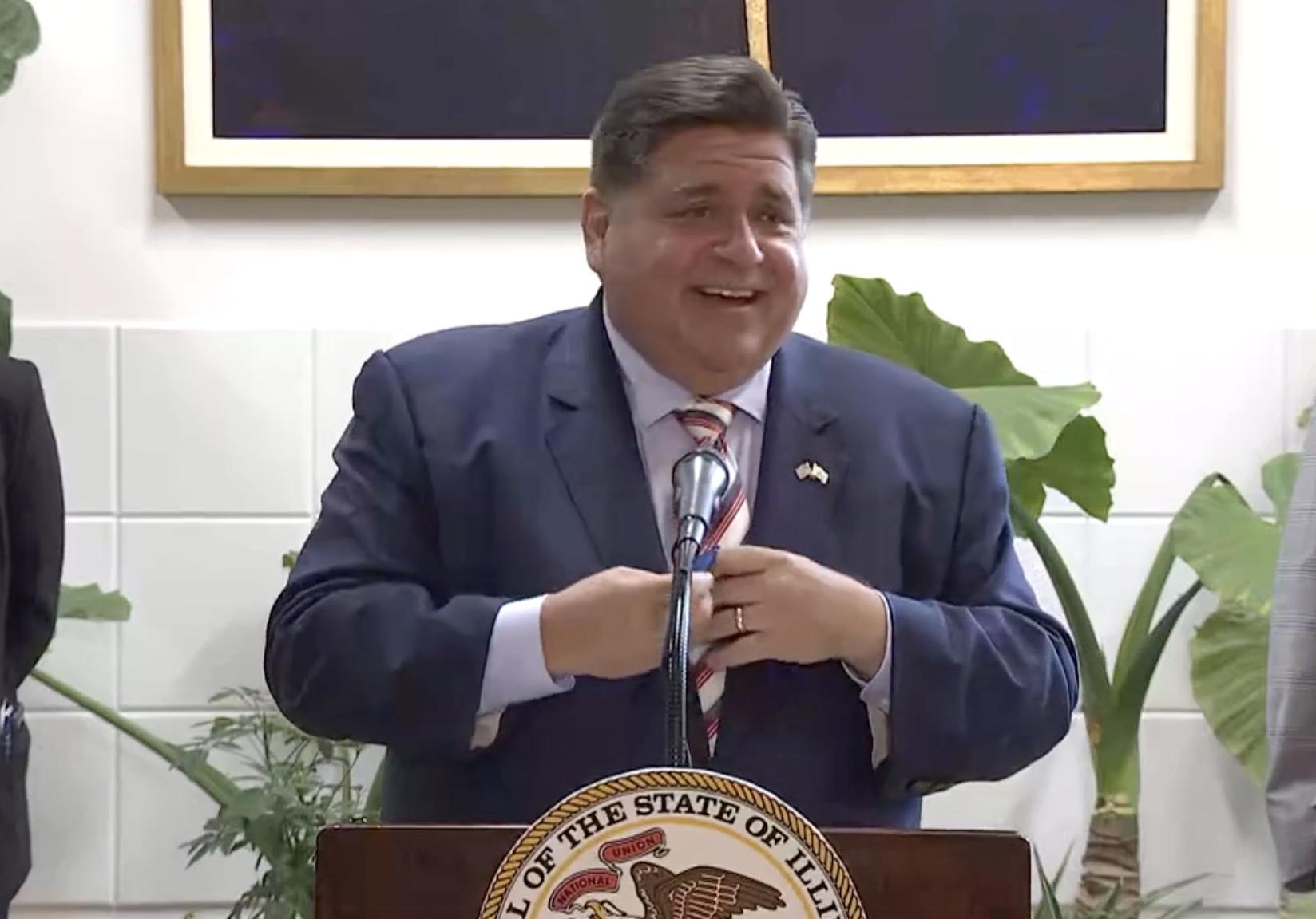 Gov. J.B. Pritzker announces $16.5 million in grants for economic development on Tuesday.