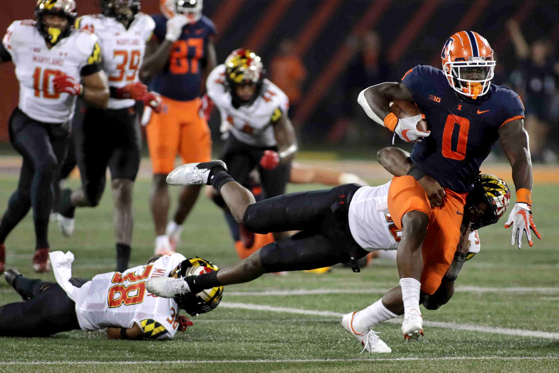 NCAA Football: Maryland at Illinois