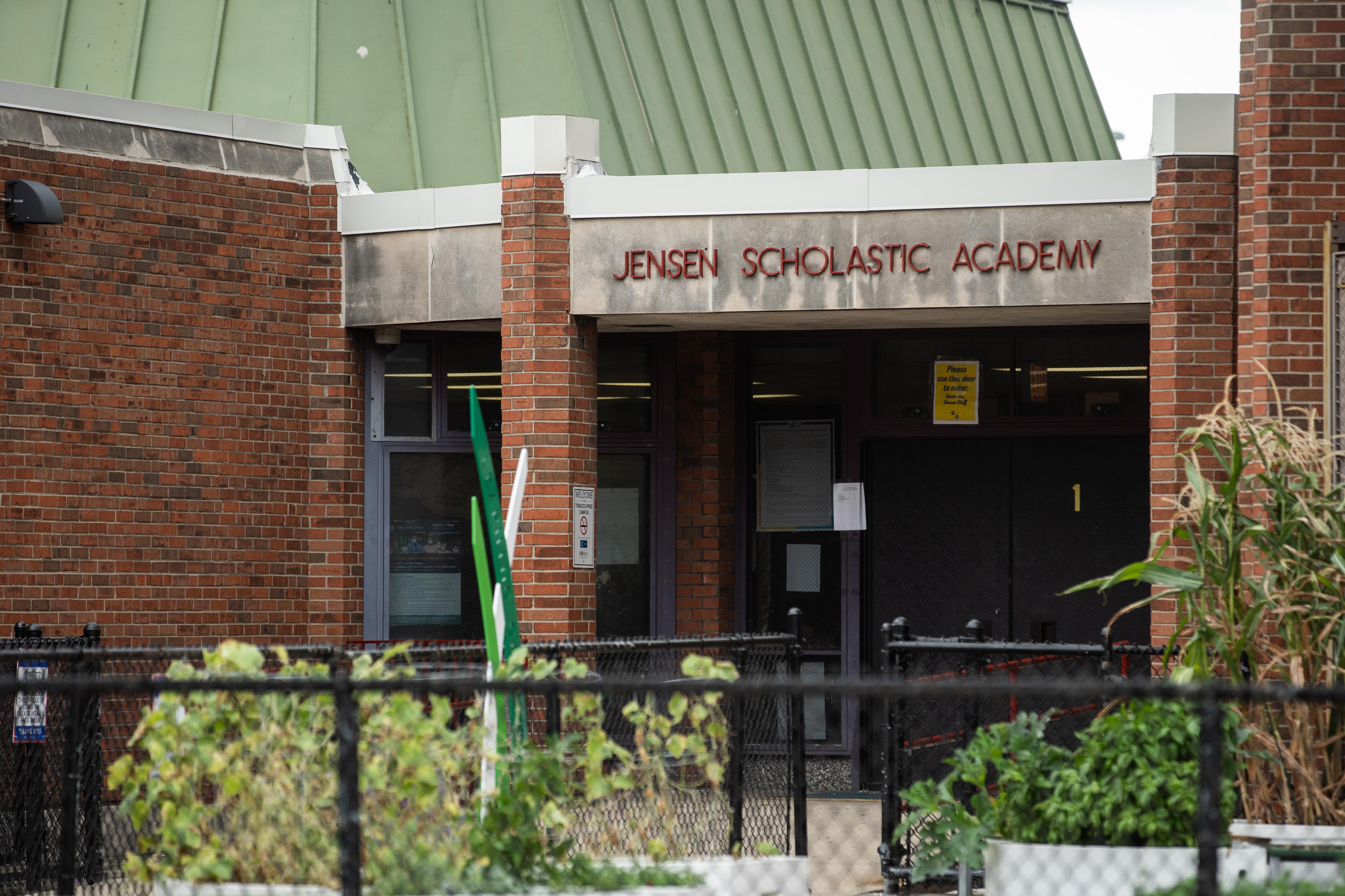 Jens Jensen Public School, at 3030 W. Harrison St., on Wednesday afternoon, Sept. 22, 2021.
