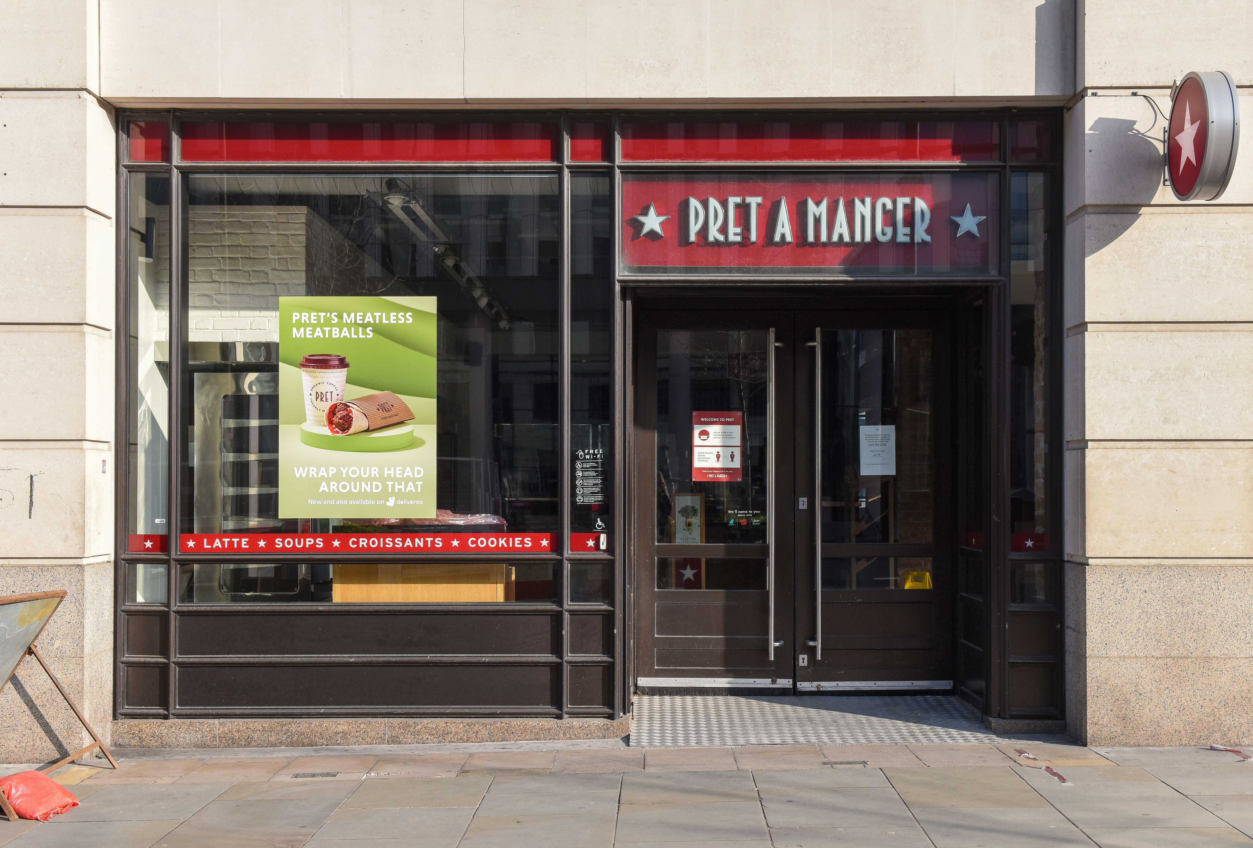 One of the Pret A Manger branch seen in central London
