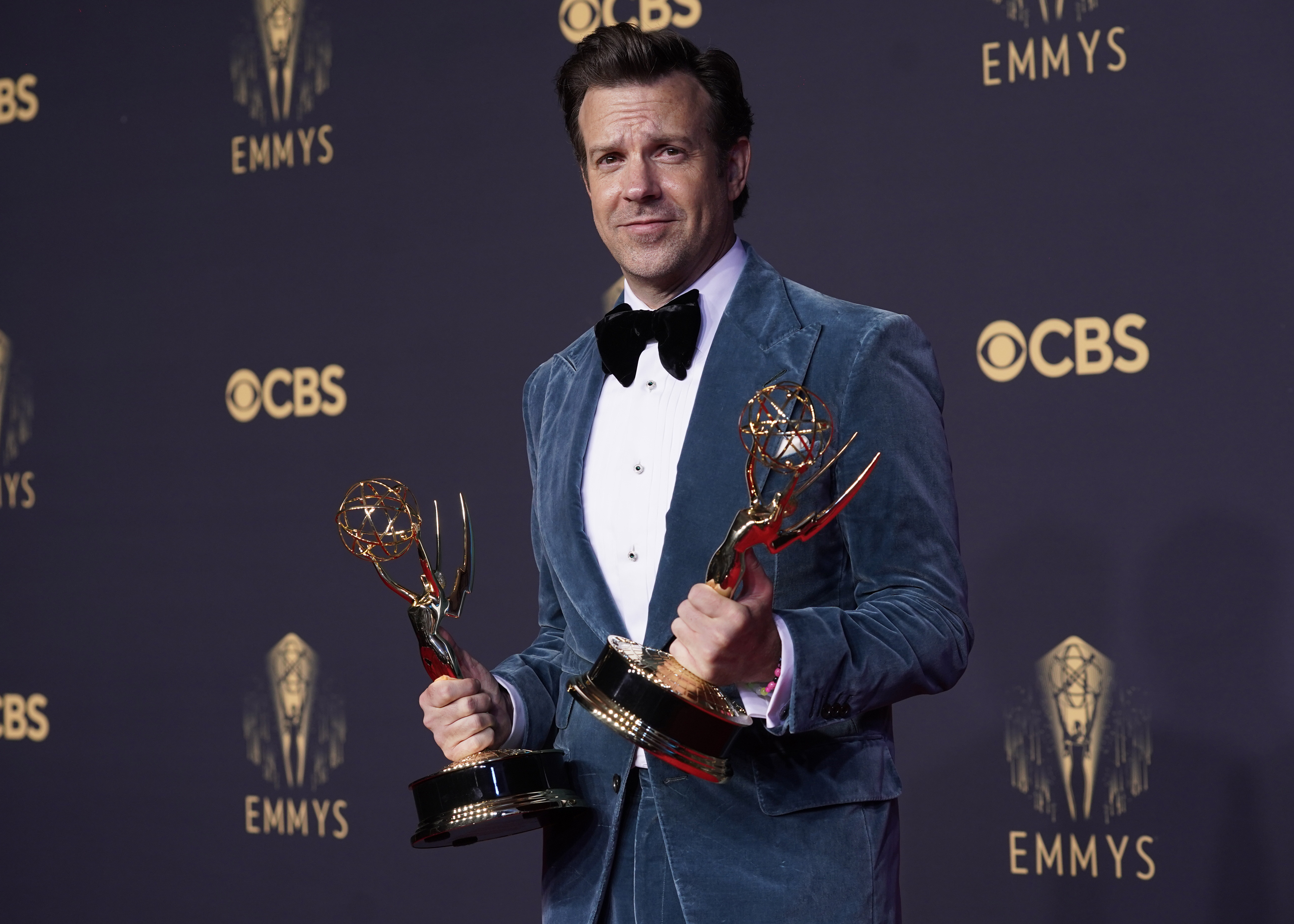 """Jason Sudeikis (pictured at the Emmy Awards earlier this week) will host """"SNL"""" on Oct. 23."""