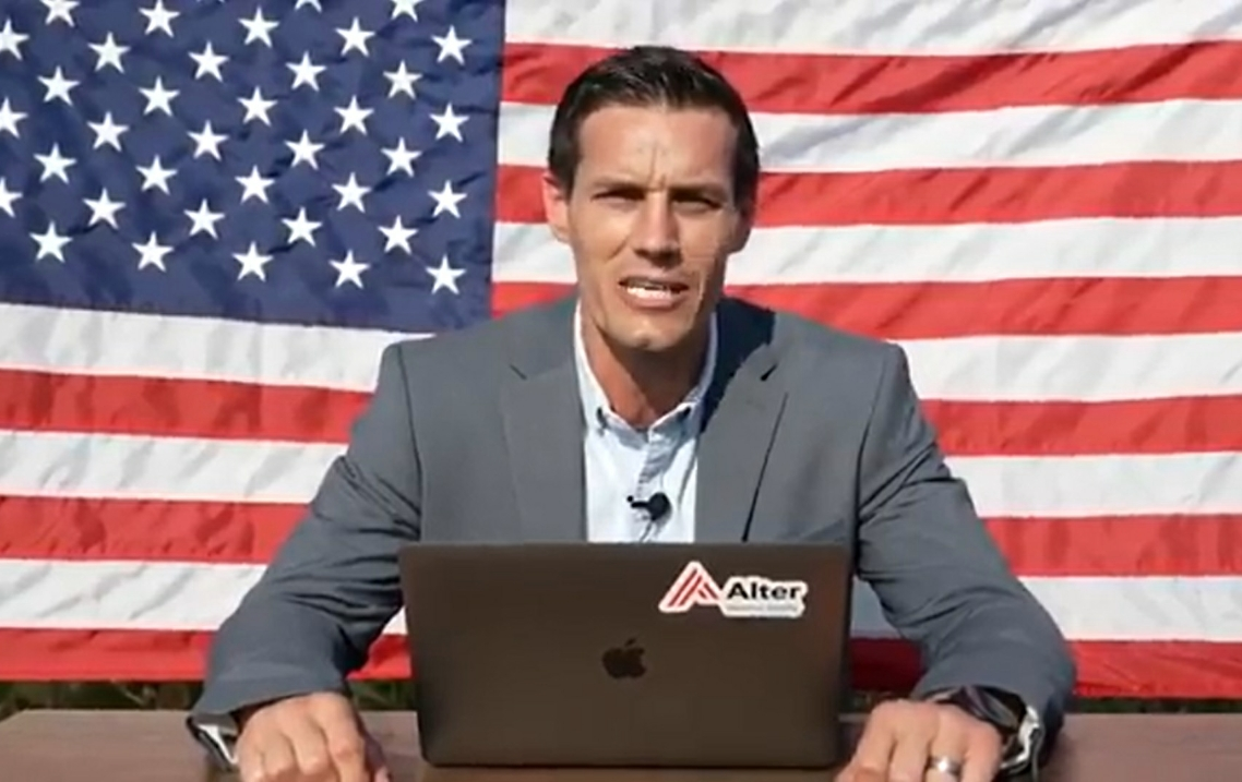Republican candidate for governor Jesse Sullivan in campaign video released earlier this month.