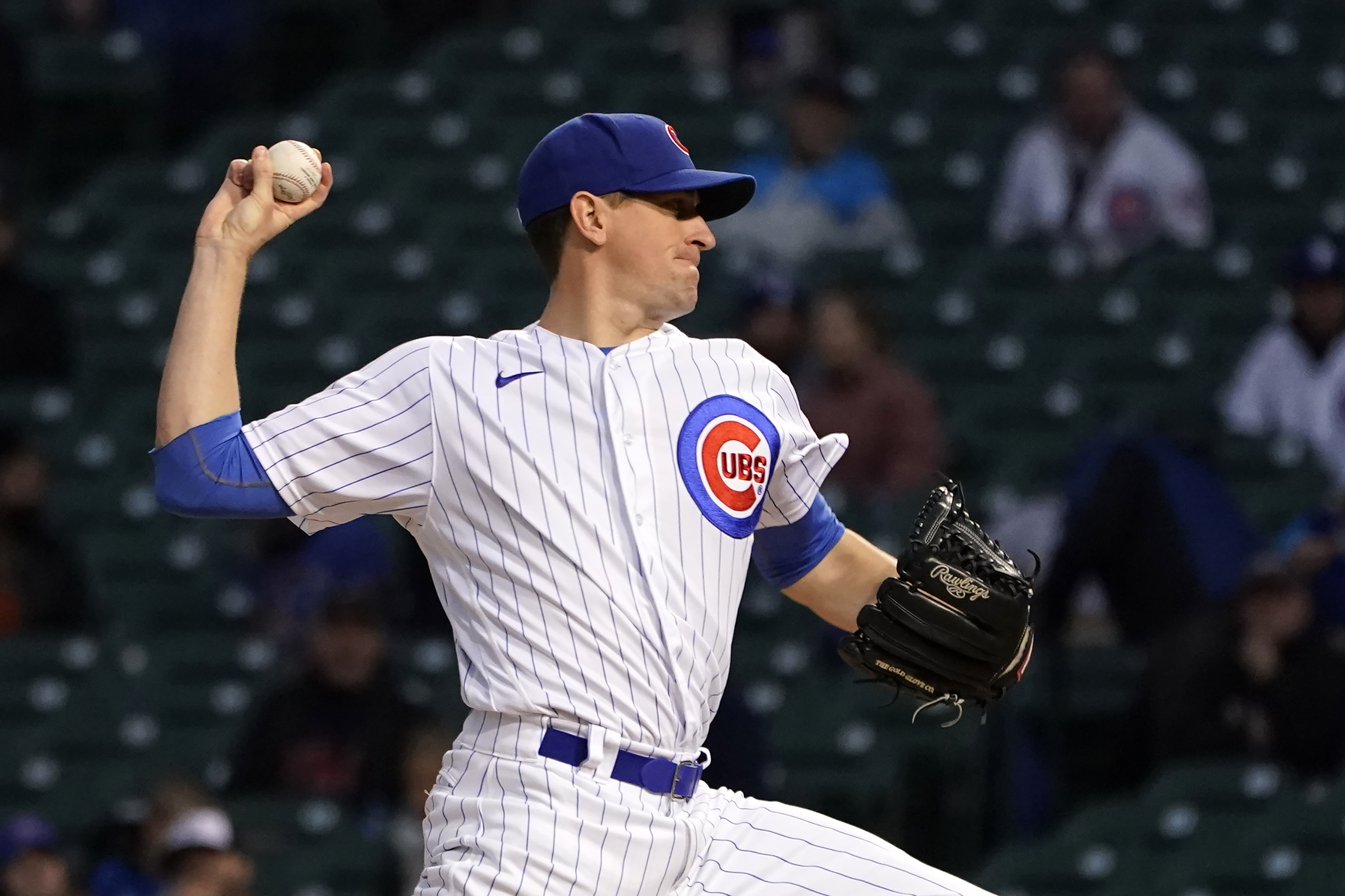 Cubs starting pitcher Kyle Hendricks delivers during the first inning of Wednesday's game against the Twins.