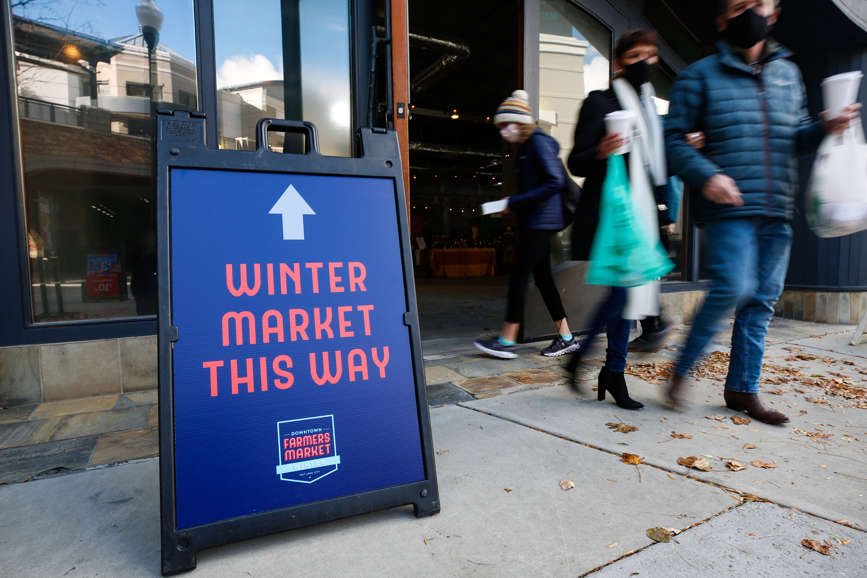 The Winter Market at The Gateway in Salt Lake City.