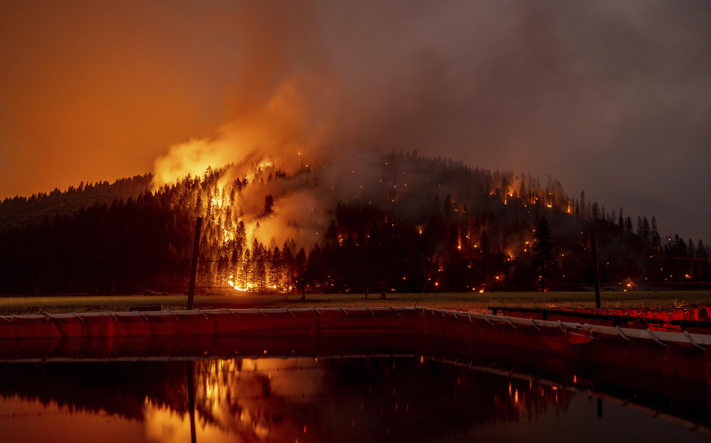 California's Dixie Fire burns.