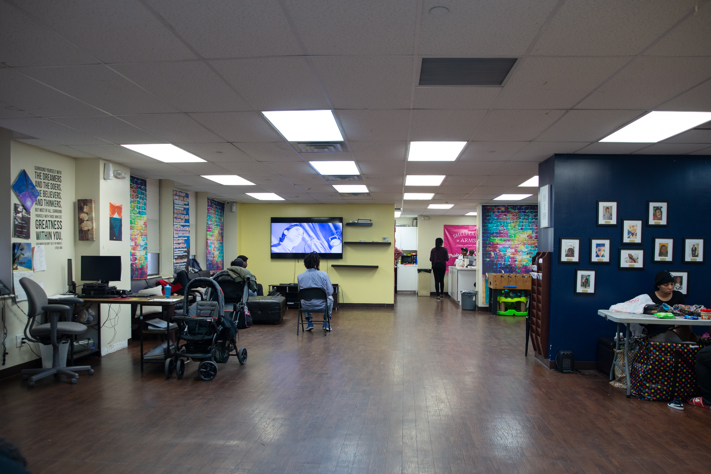 Young people spent time off the streets in a Jamaica, Queens shelter,May 21, 2019.
