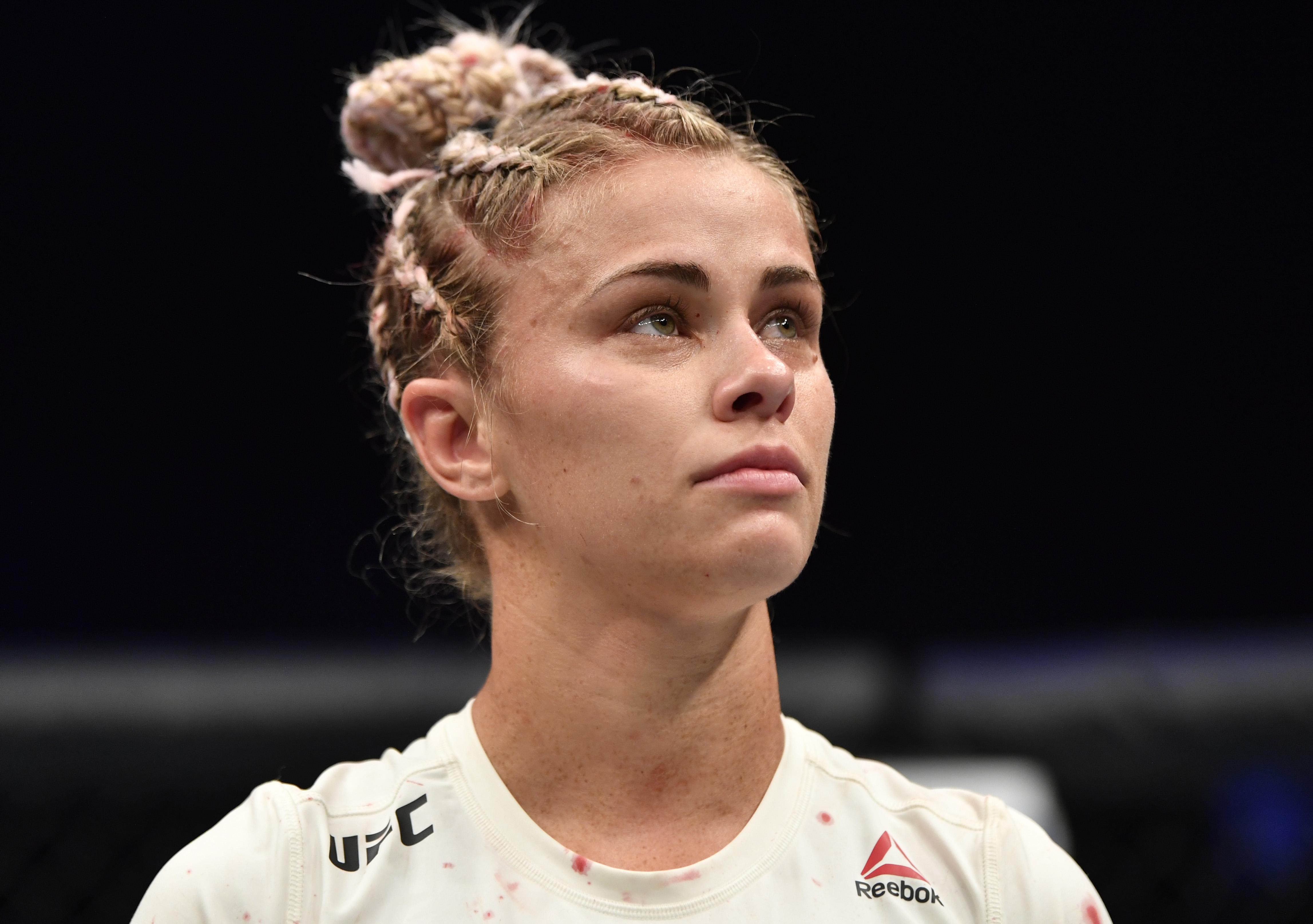 Paige VanZant after her fight with Amanda Ribas at UFC 251.