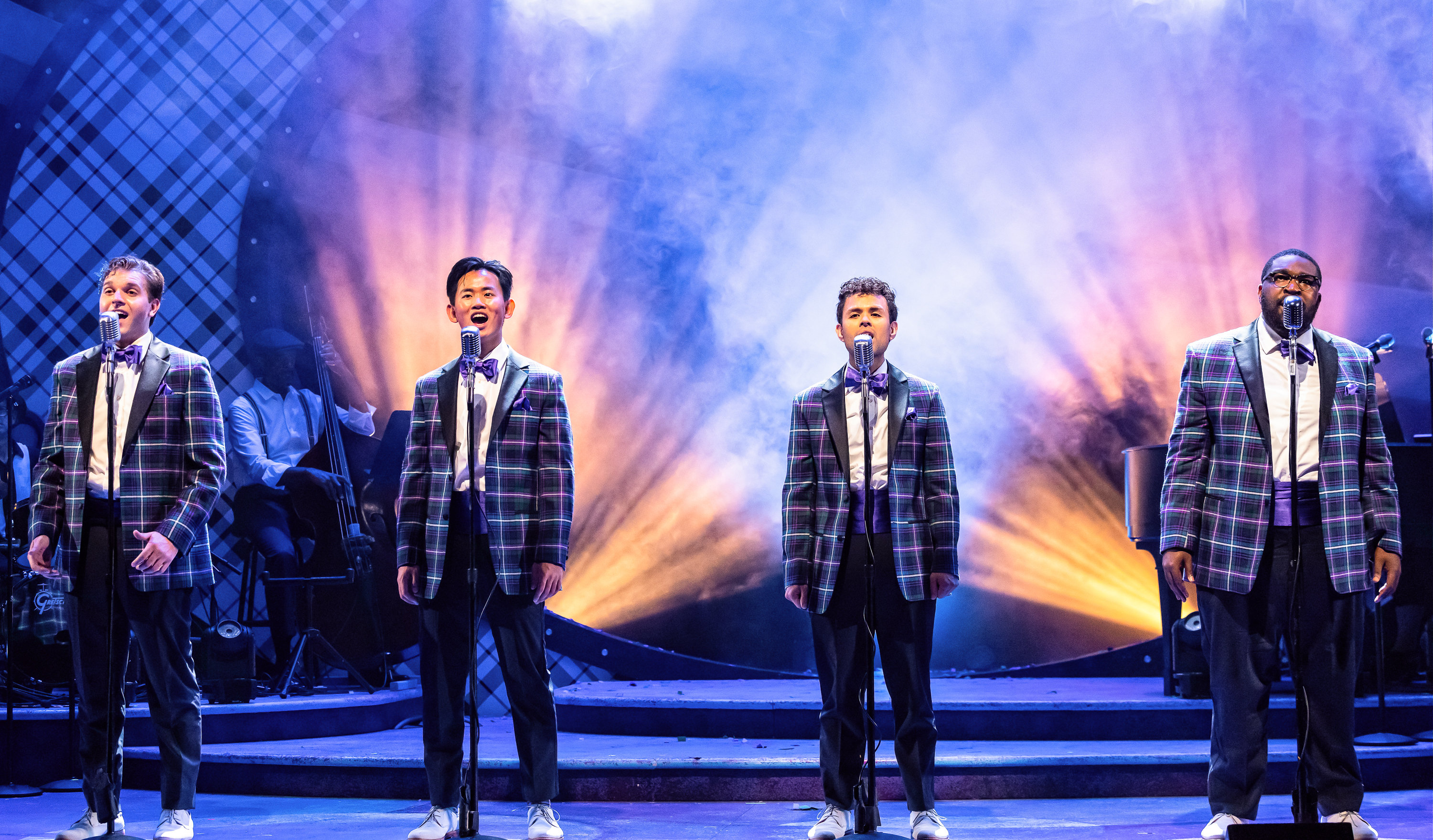 """Michael Ferraro (from left) Bryan Eng, Yando Lopez and A.D. Weaver star in the Drury Lane Production of """"Forever Plaid."""