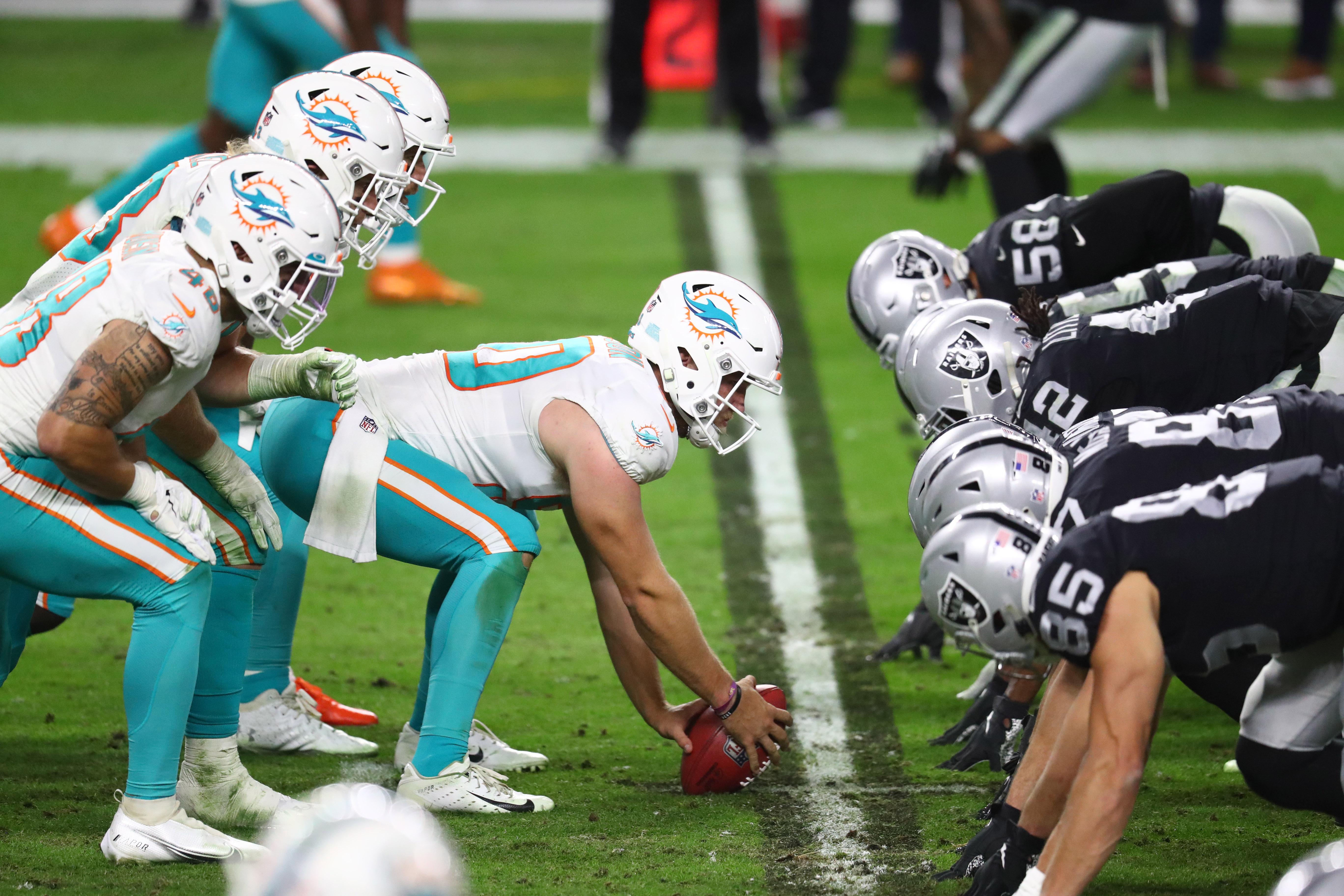 NFL: Miami Dolphins at Las Vegas Raiders