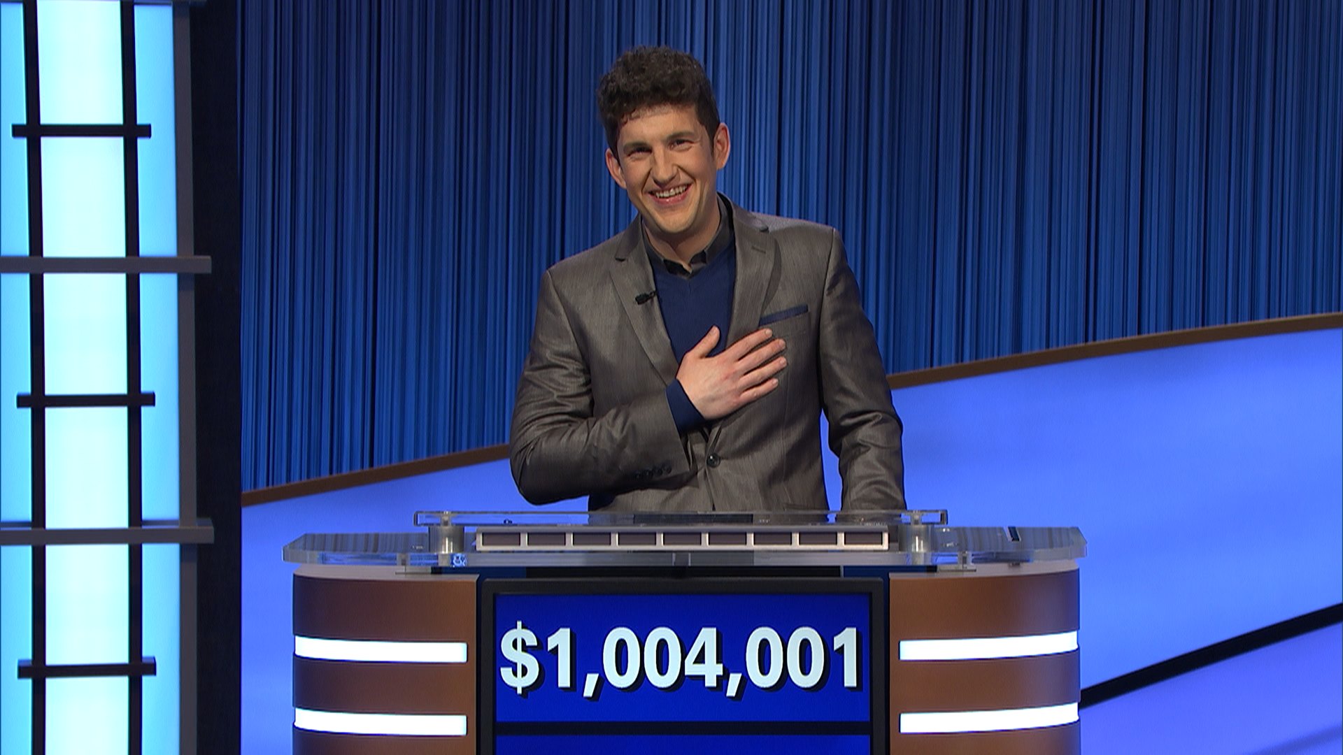 """Jeopardy!"""" contestant Matt Amodio has become the third player in the show's history to win $1 million during regular season play."""