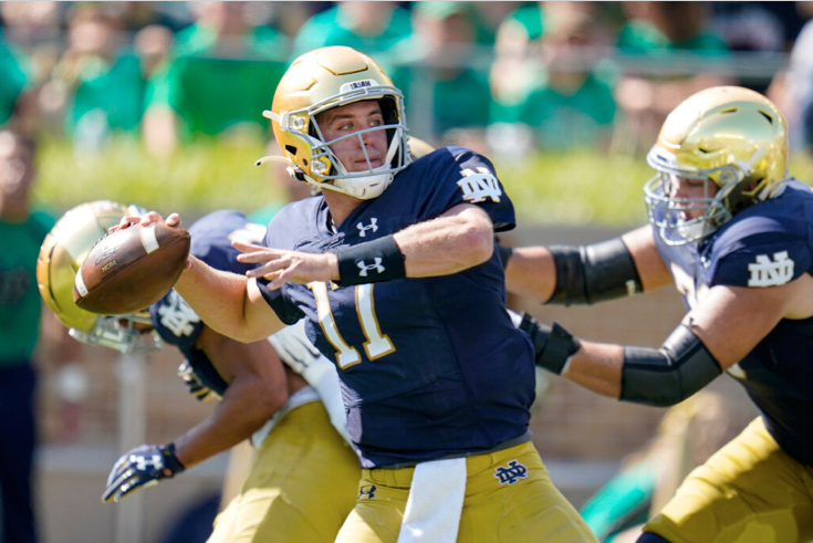"""Notre Dame quarterback Jack Coan said the game against Wisconsin will be """"weird."""""""