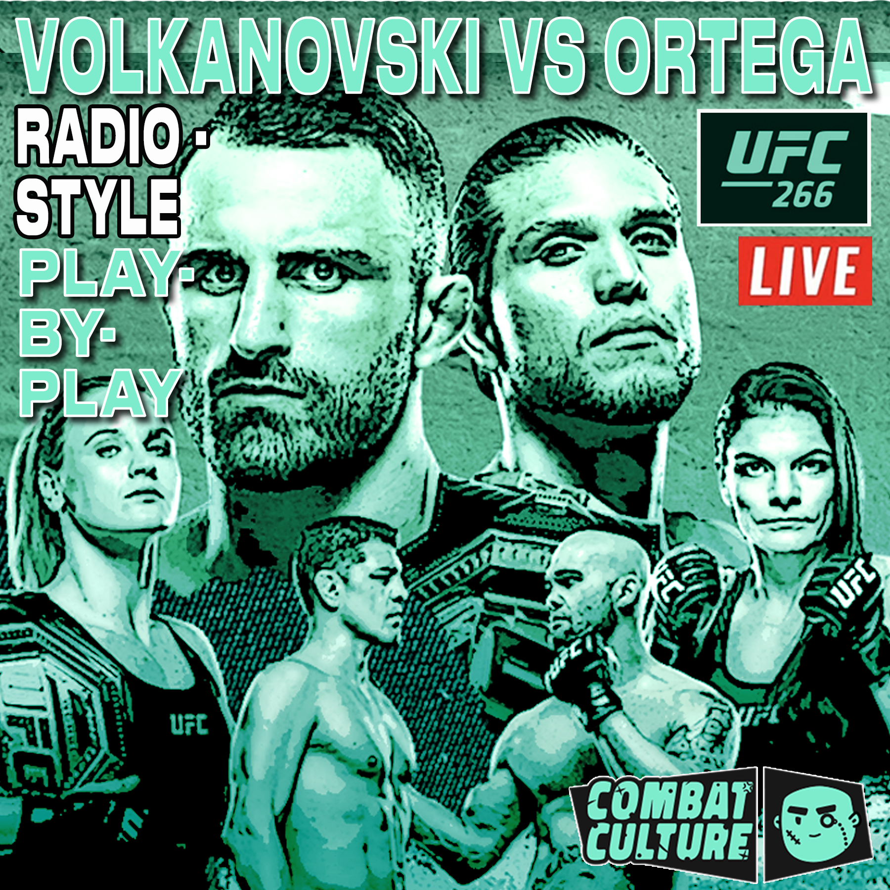 UFC 266, Radio-Style Commentary, UFC Play-by-Play, Matt Ryan, UFC 266 Radio-Style PBP Live Commentary, Volkanovski vs Ortega, UFC Podcast, MMA Podcast, Matt Ryan, Combat Culture