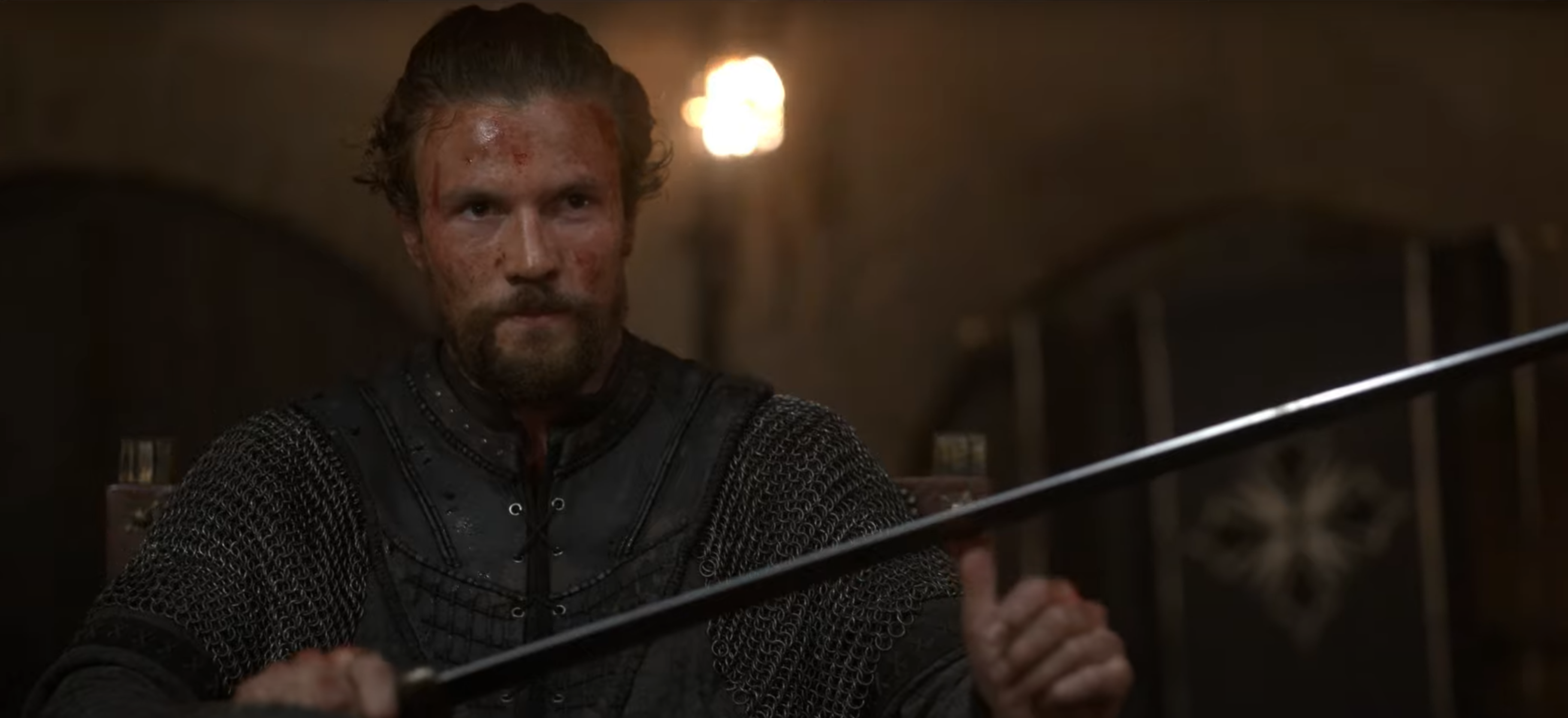 A character from Netflix's Vikings: Valhalla