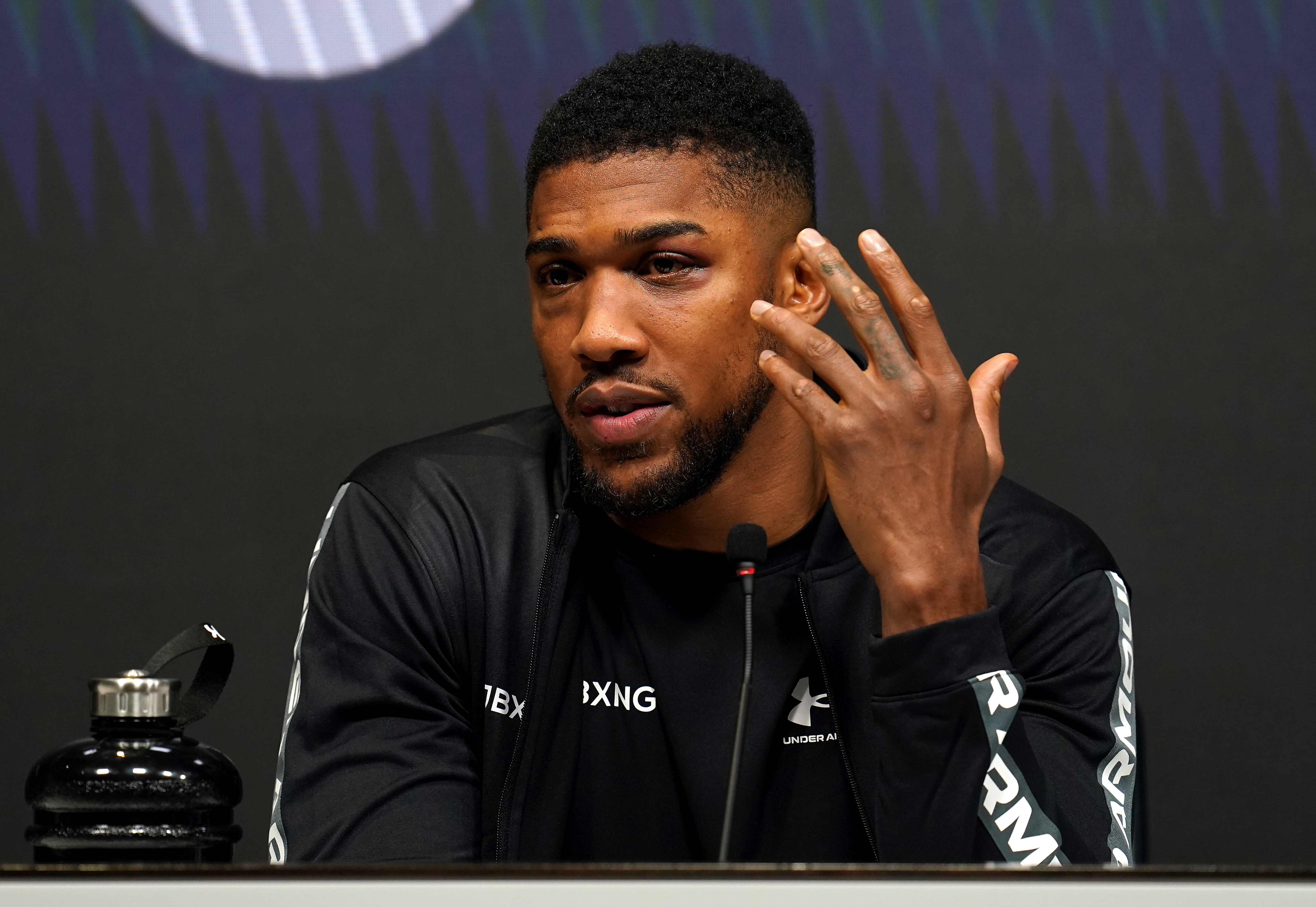 Anthony Joshua after his upset loss to Oleksandr Usyk