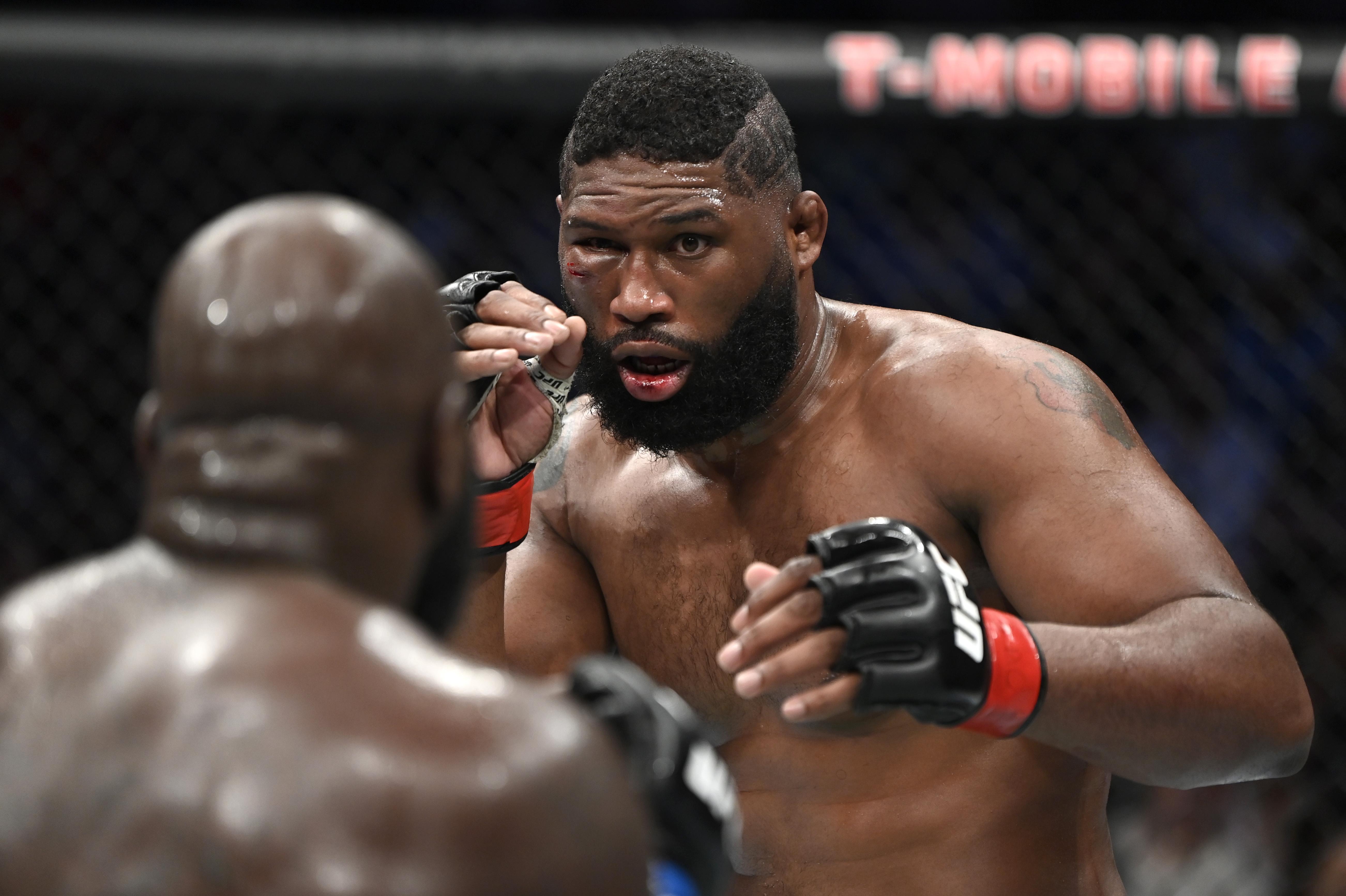 Curtis Blaydes defeated Jairzinho Rozenstruik at UFC 266.