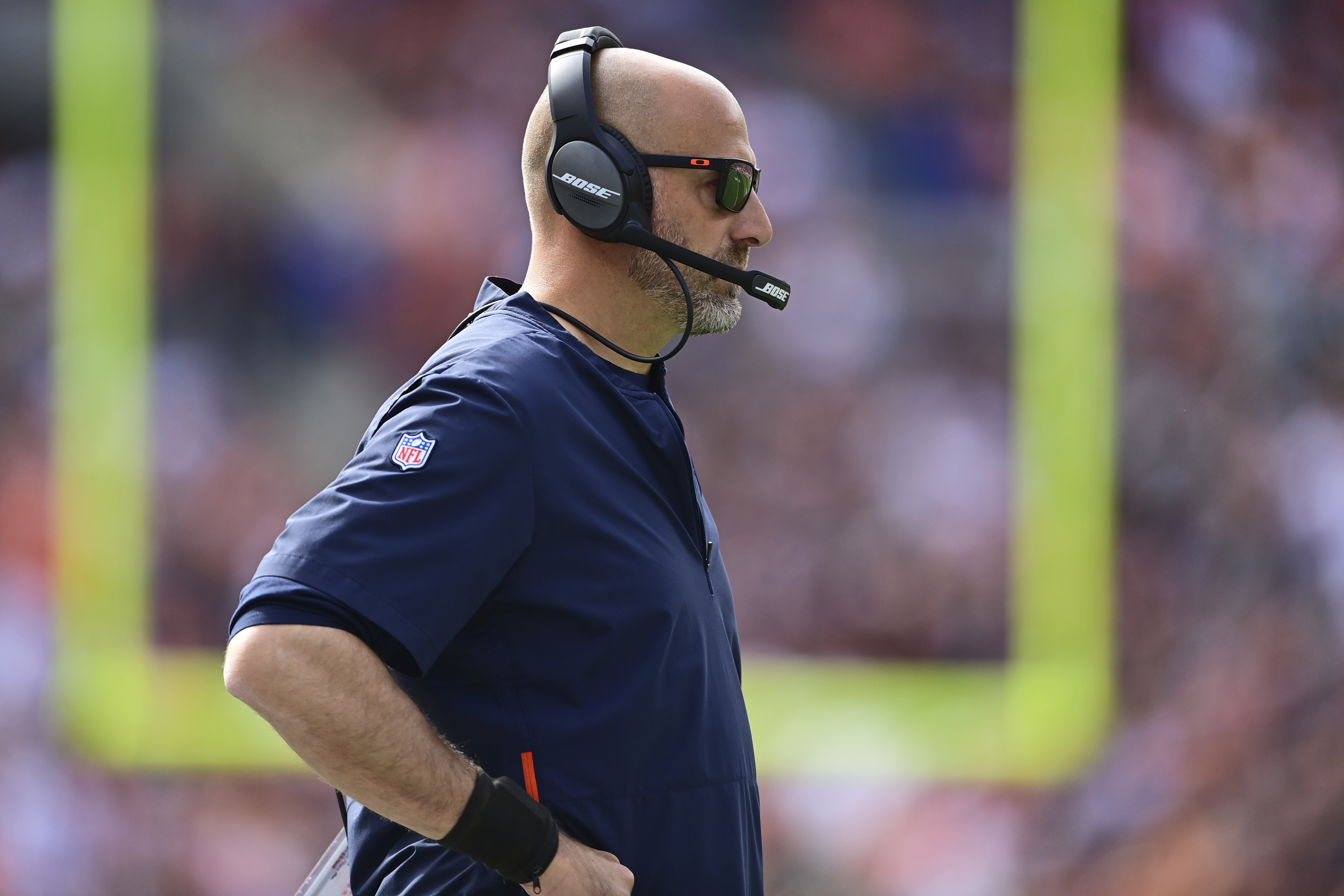 Bears coach Matt Nagy is 29-22 in the regular season after losing to the Browns.