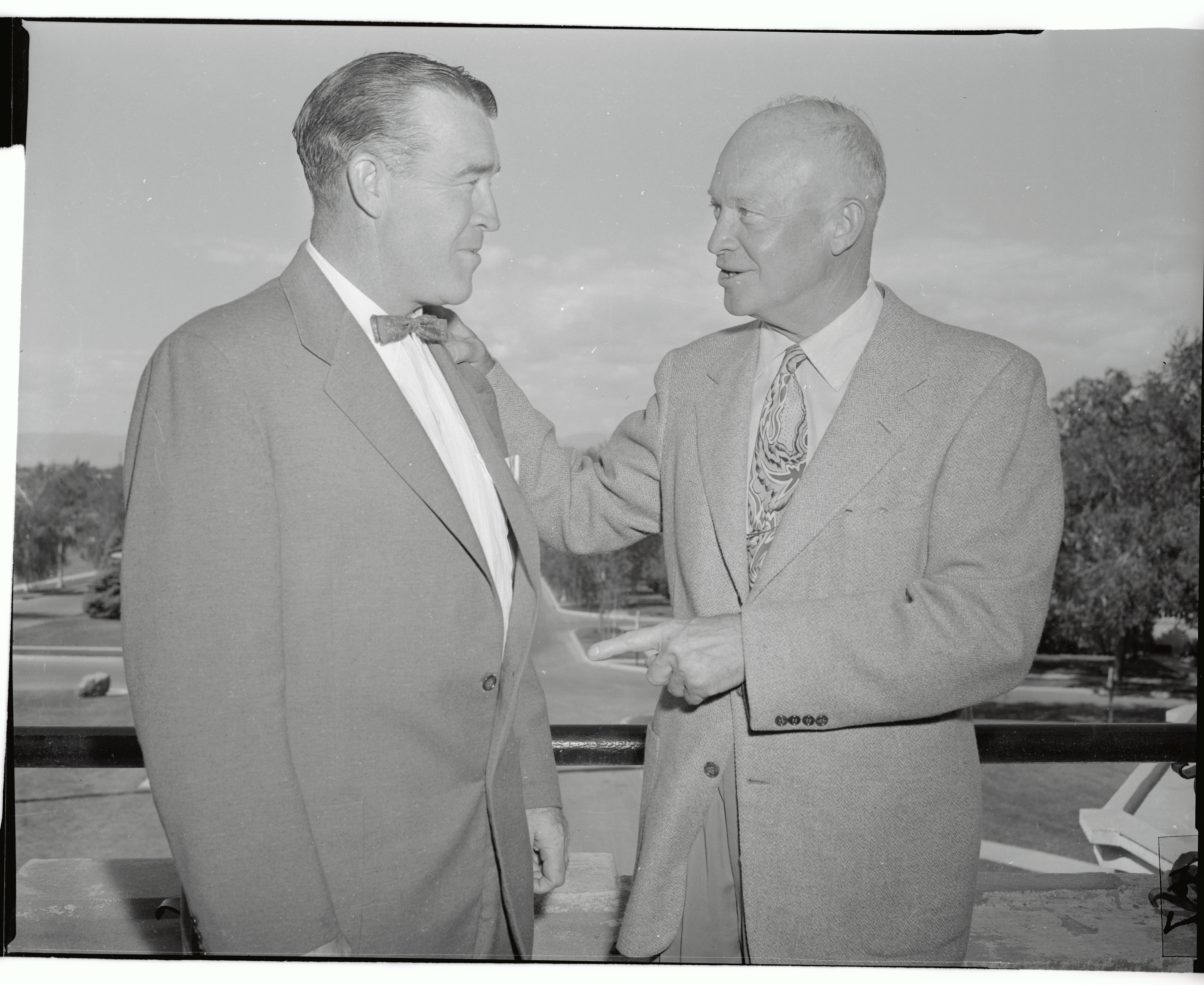 Frank Leahy with Dwight D. Eisenhower