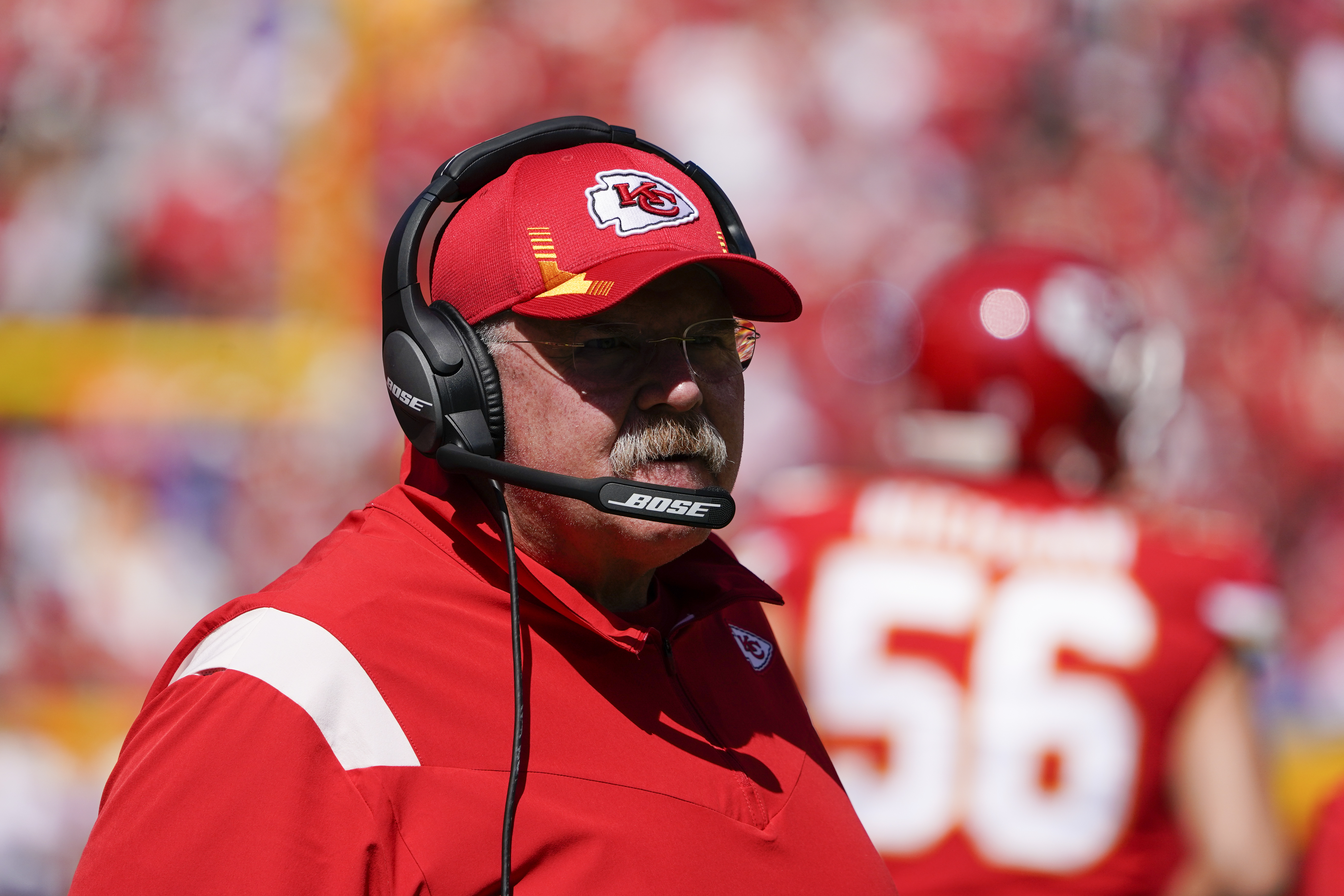 Chiefs coach Andy Reid is resting and in stable condition after being taken to a hospital following Kansas City's 30-24 loss to the Los Angeles Chargers on Sunday.