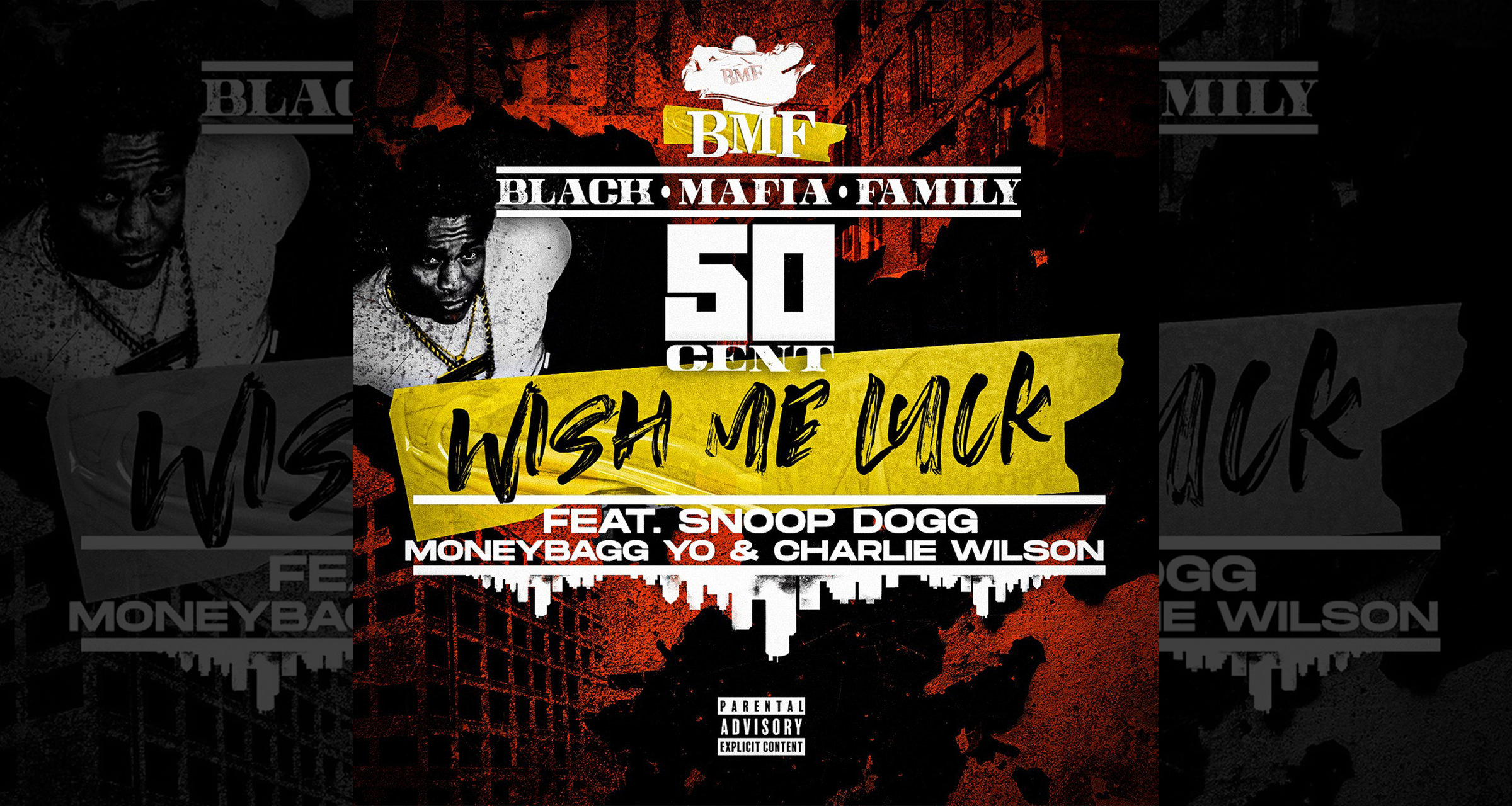 """50 Cent's """"Wish Me Luck"""" artwork"""