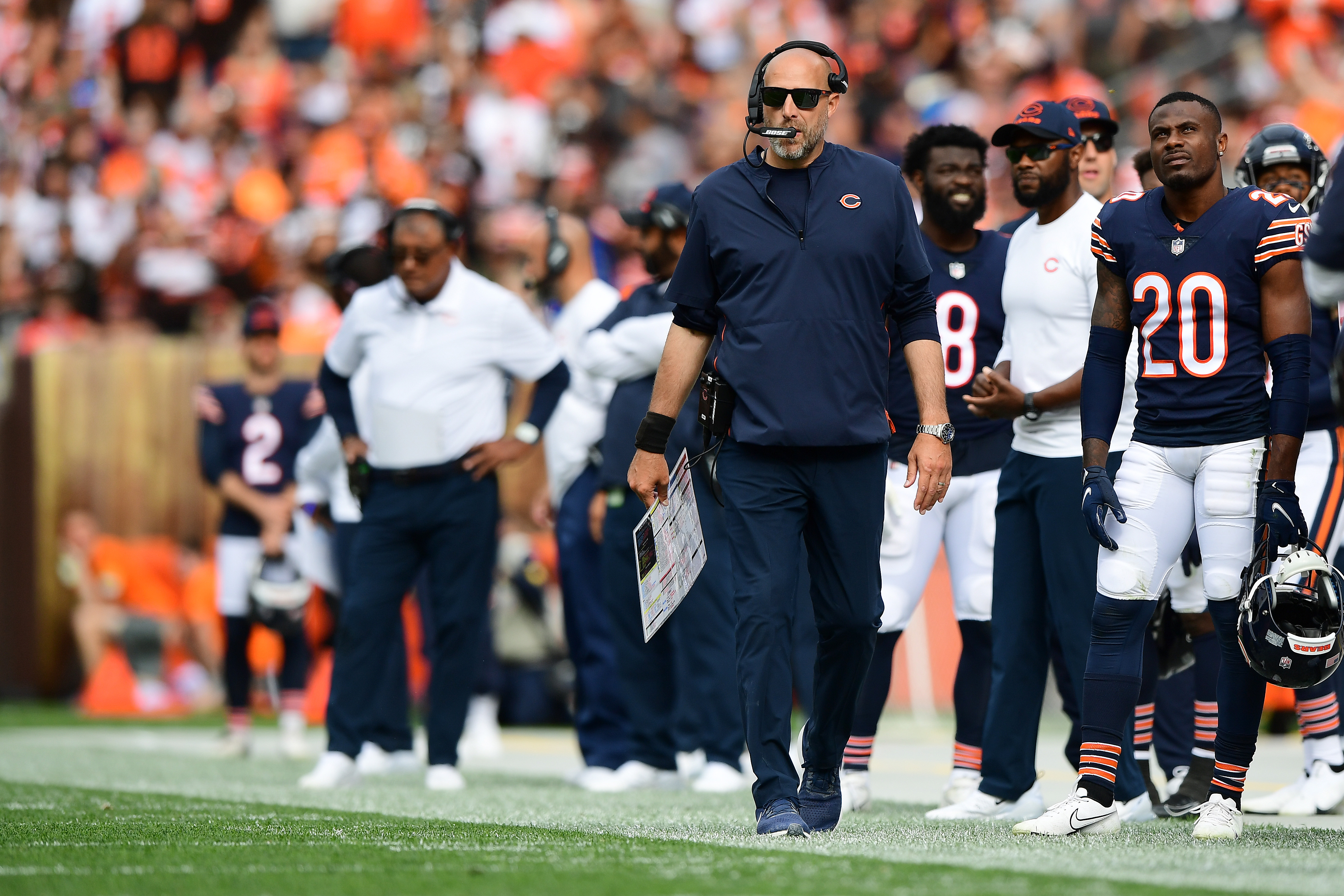 """""""So we're looking at everything right now,"""" Bears coach Matt Nagy said. """"Looking at everything — I think that's being completely honest with you, and real."""""""