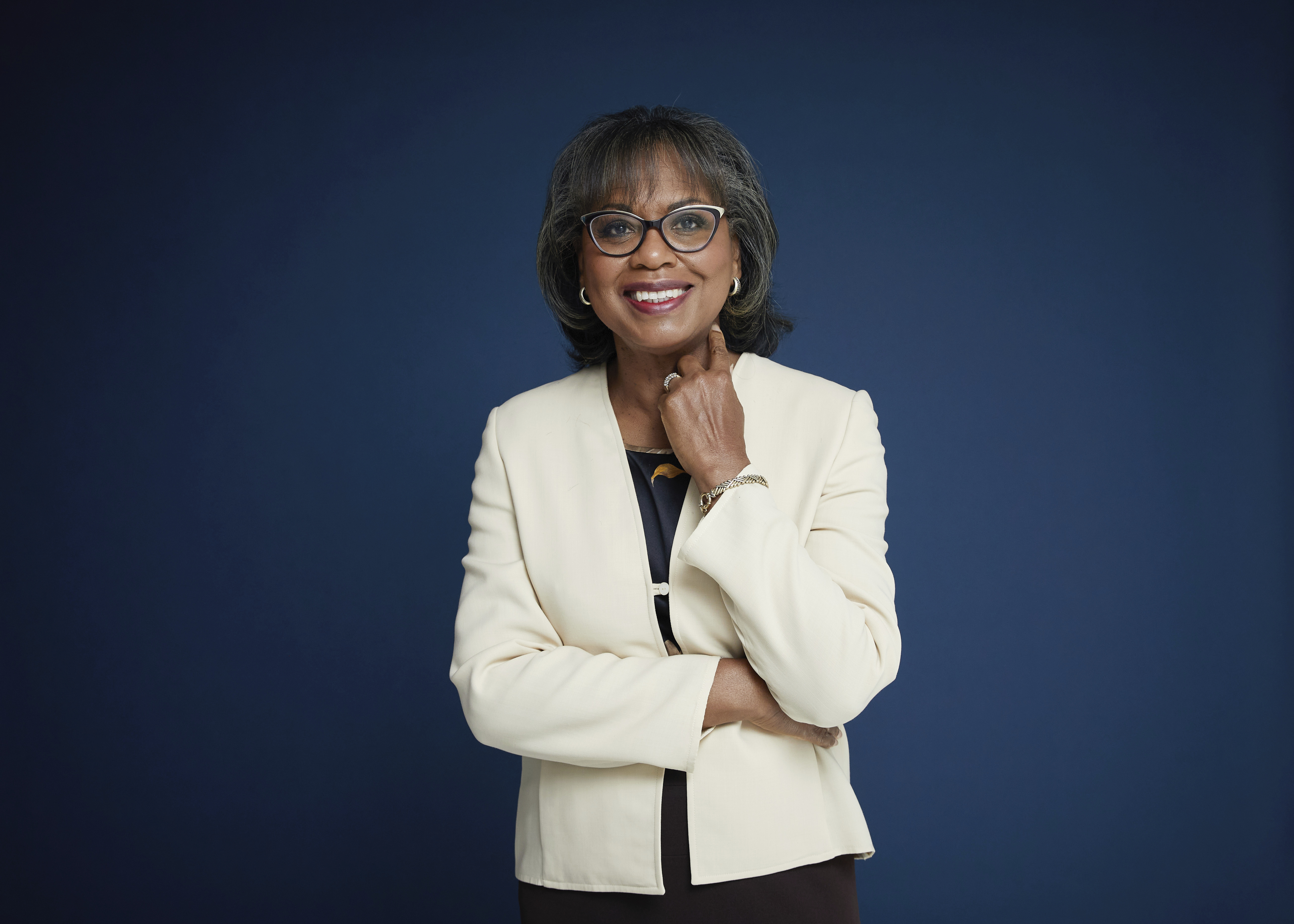 """Anita Hill in New York on Sept. 21, 2021 to promote her book, """"Believing: Our Thirty-Year Journey to End Gender Violence,"""" releasing on Sept. 28."""