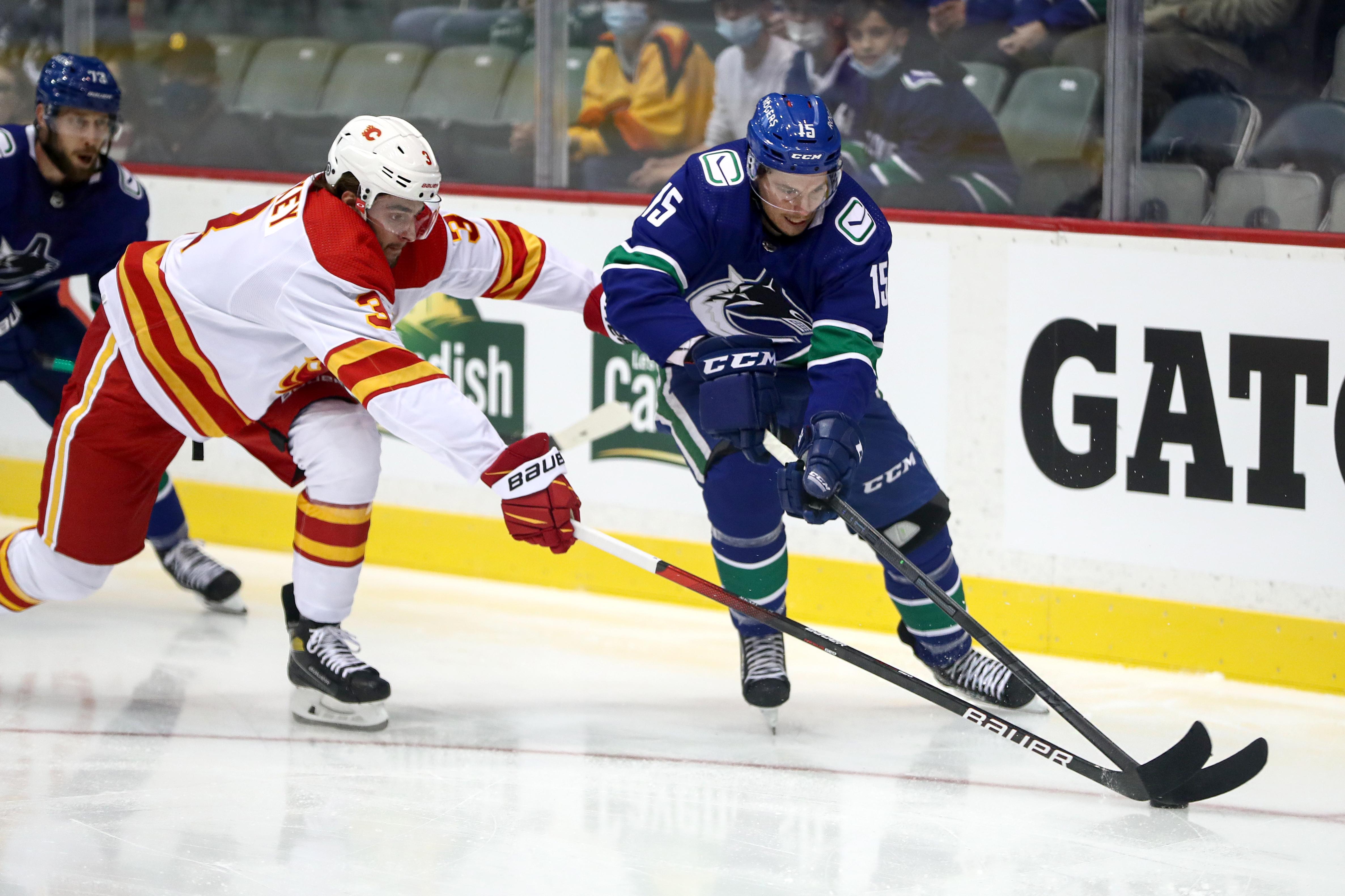 NHL: SEP 27 Preseason - Flames v Canucks