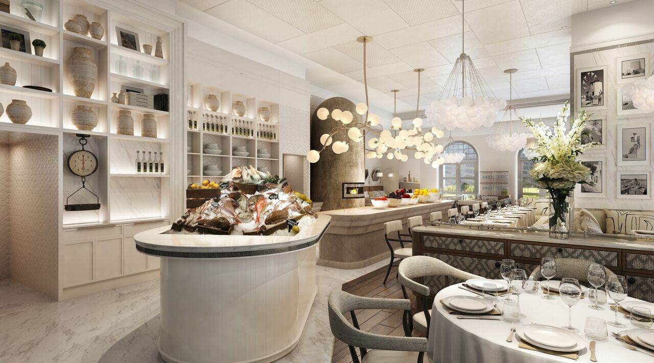 The interior of a Dubai restaurant by Bulldozer Group