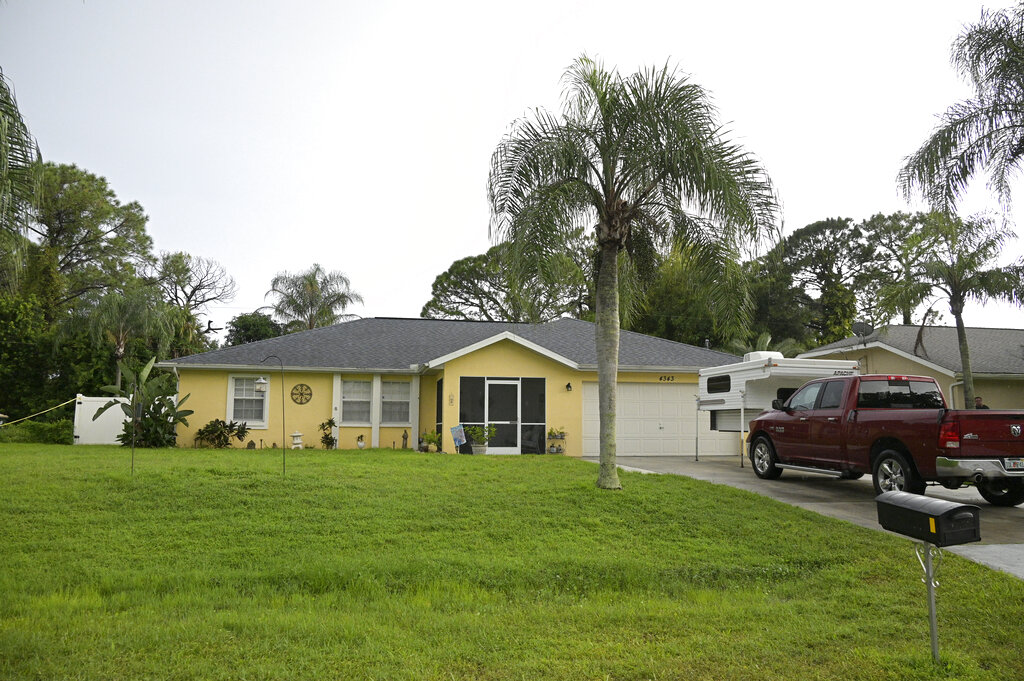 The home of Brian Laundrie in North Port, Florida.