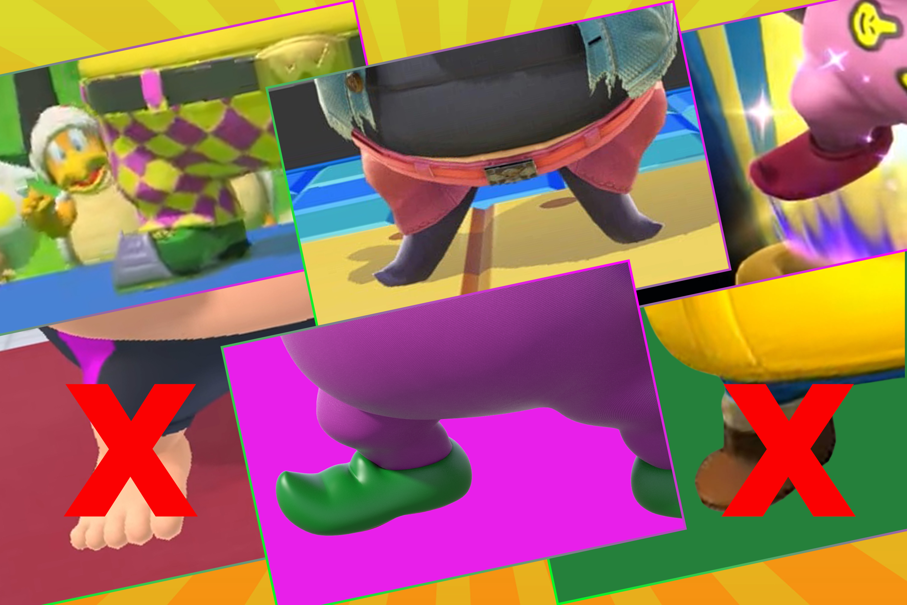 Wario: Good shoes and no shoes