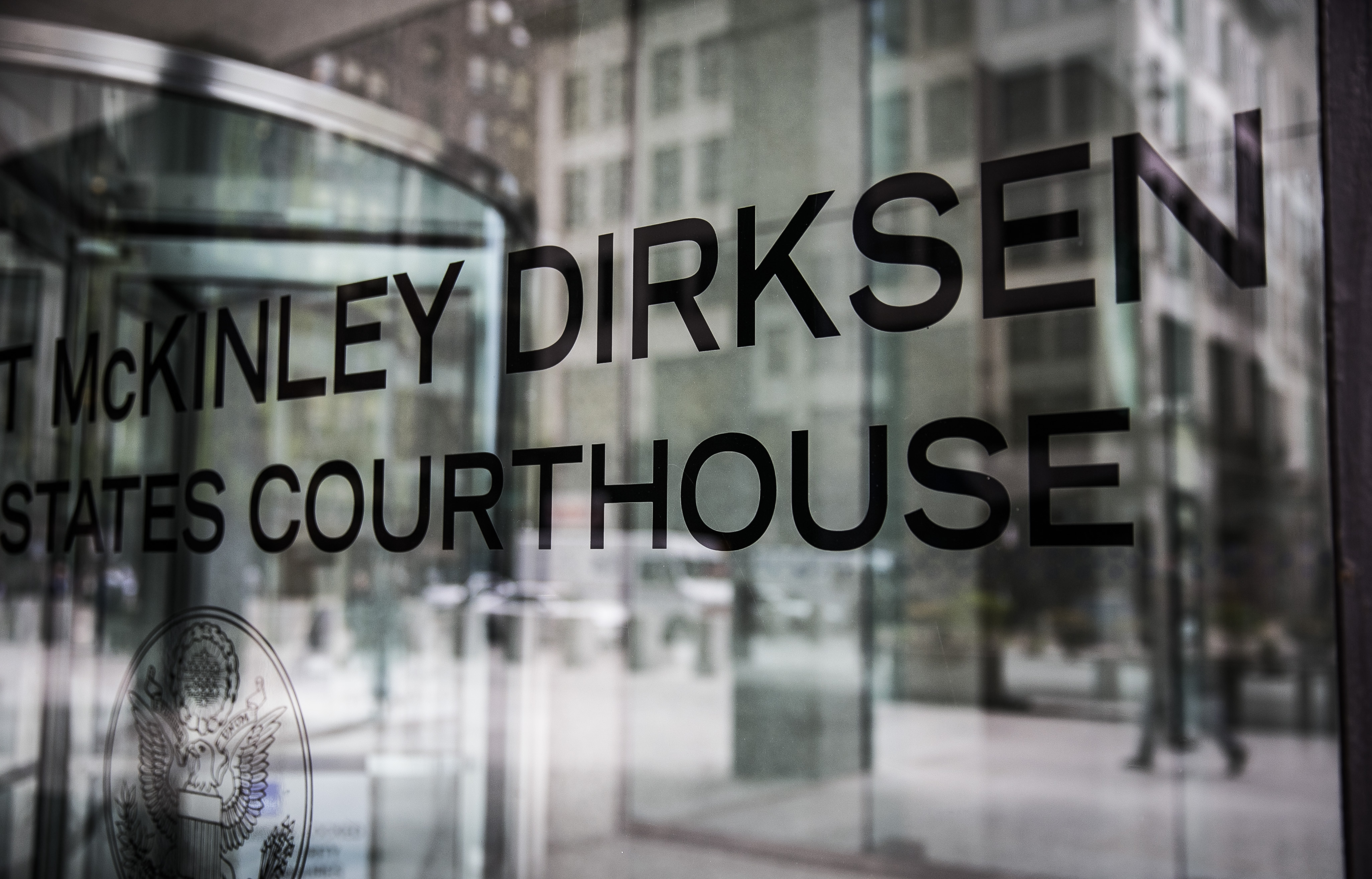 A sign for the Dirksen Federal Courthouse, 219 S. Dearborn St.