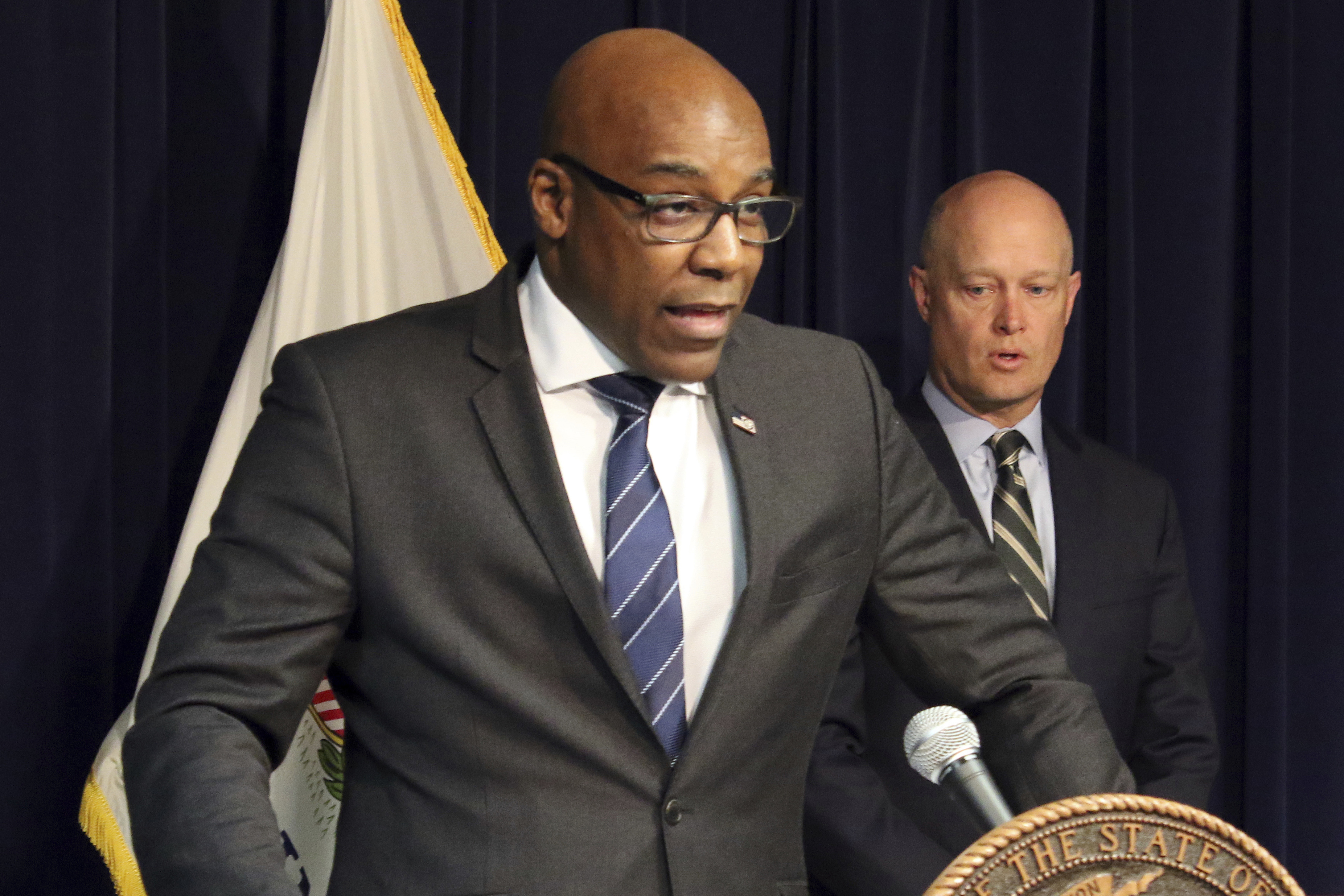 Illinois Attorney General Kwame Raoul speaks during a news conference in Chicago in February 2019.